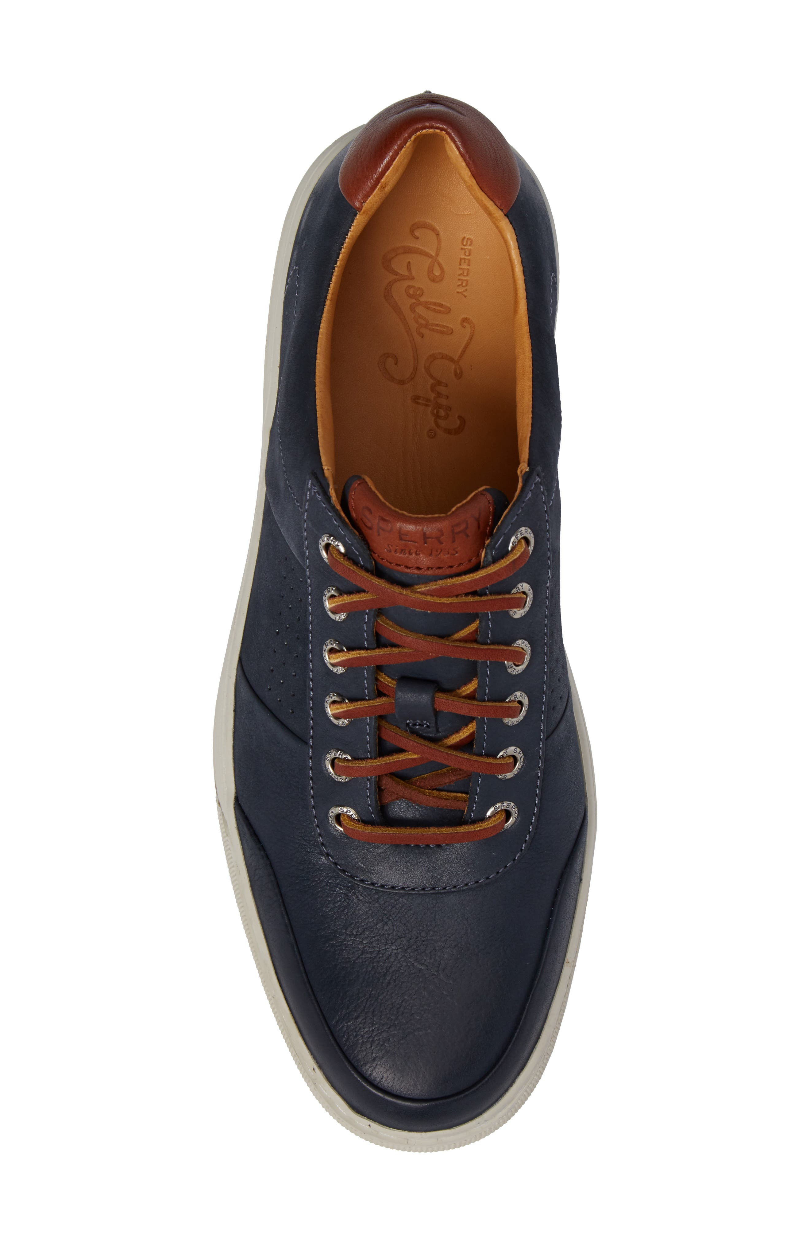 Gold Cup Sport Sneaker,                             Alternate thumbnail 5, color,                             Navy Leather
