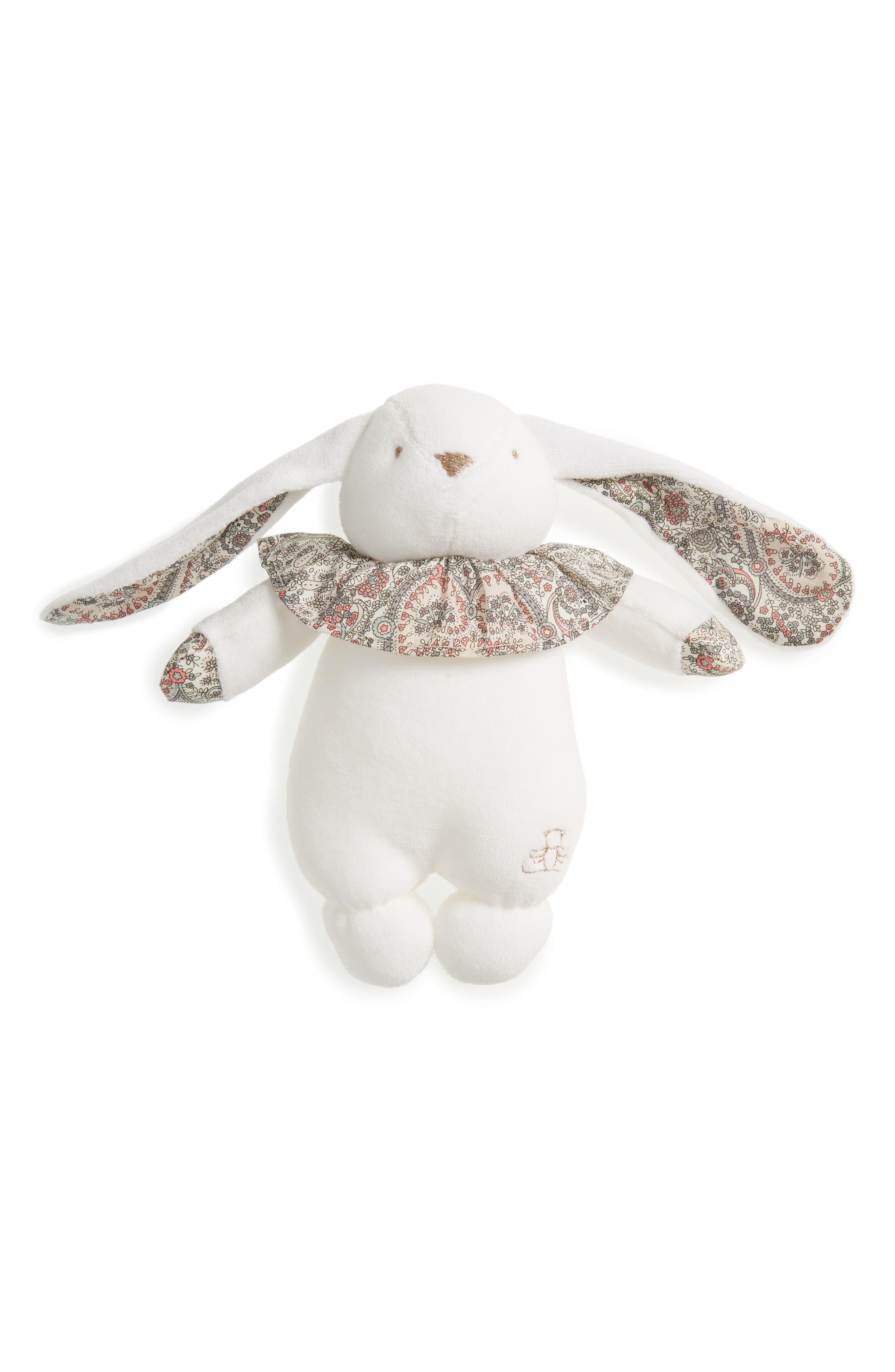 x Liberty of London Rabbit Rattle,                         Main,                         color, Grey