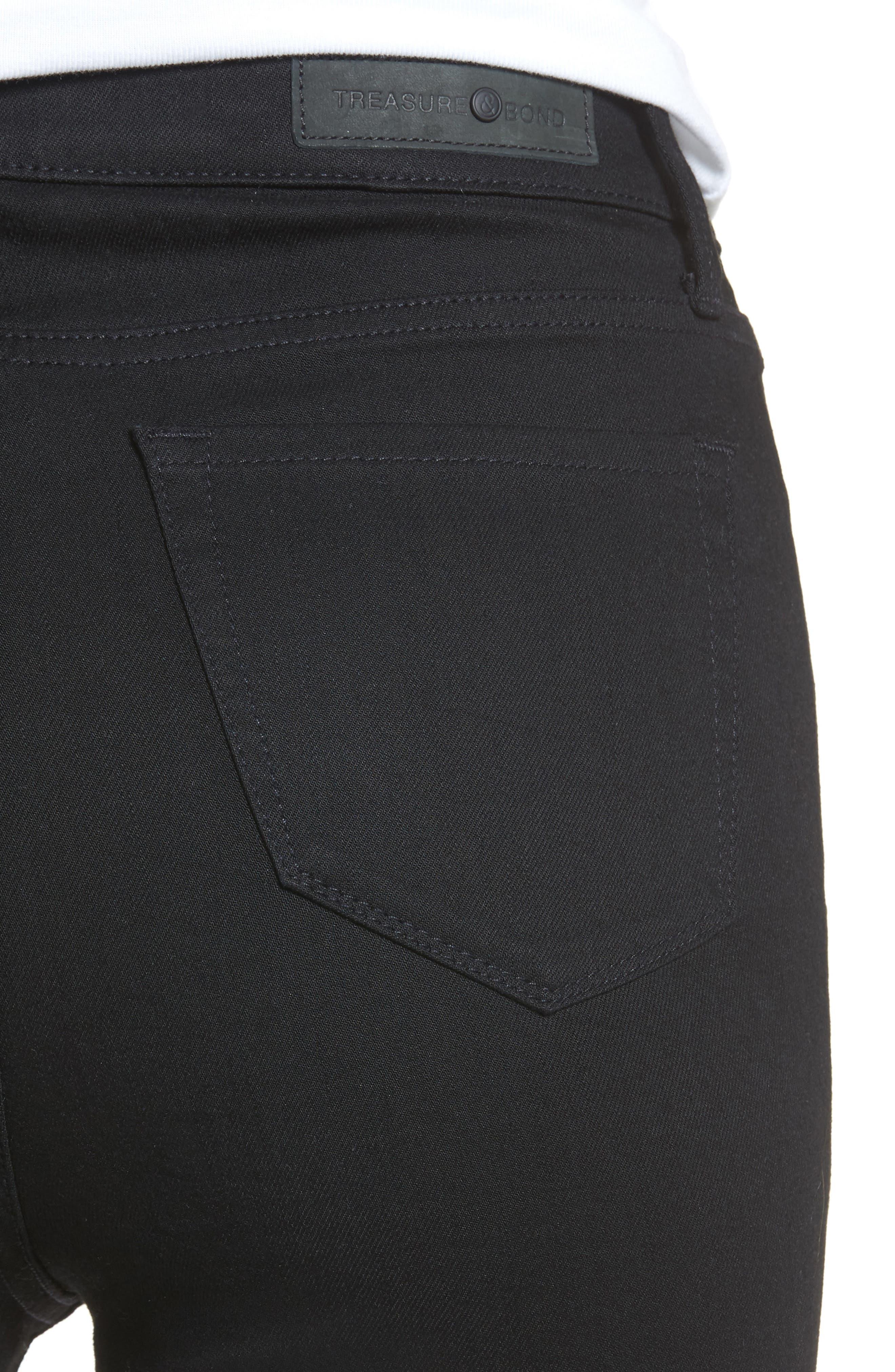 Alternate Image 5  - Treasure & Bond Charity High Waist Crop Skinny Jeans