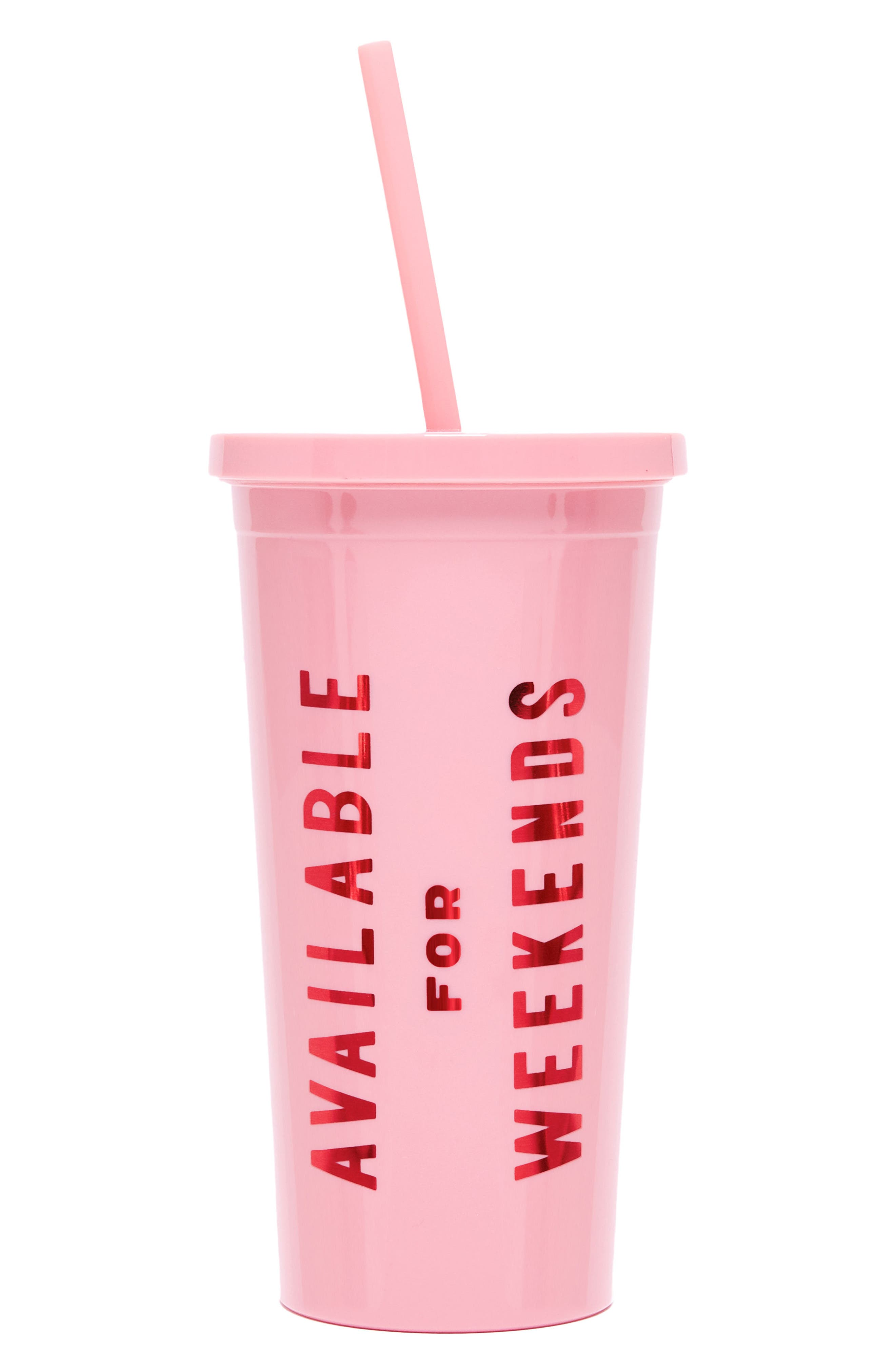 Sip Sip - Available For Weekends Travel Tumbler,                         Main,                         color, Available For Weekends
