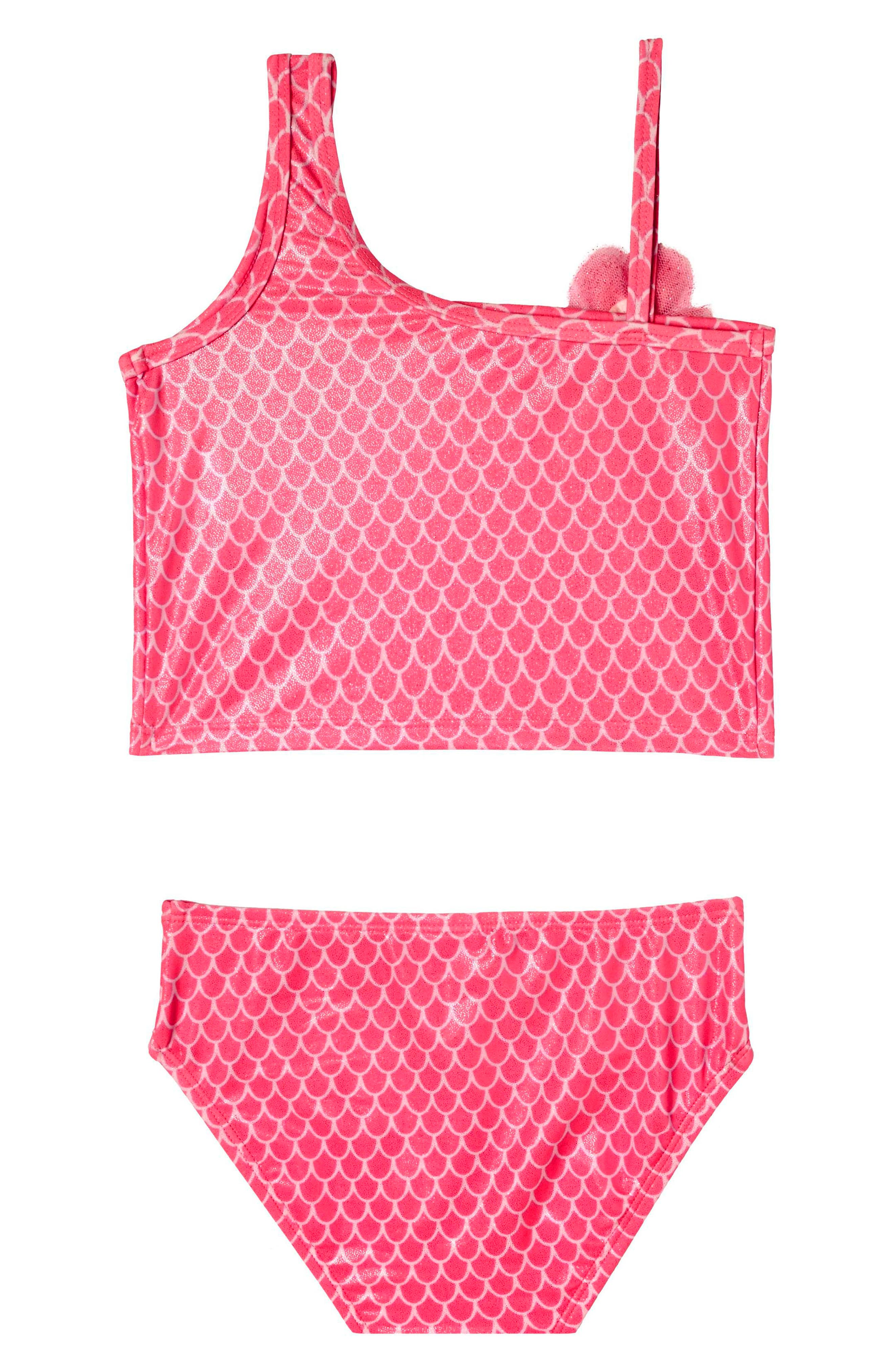 Mermaid Princess Two-Piece Tankini Swimsuit,                             Alternate thumbnail 2, color,                             Pink