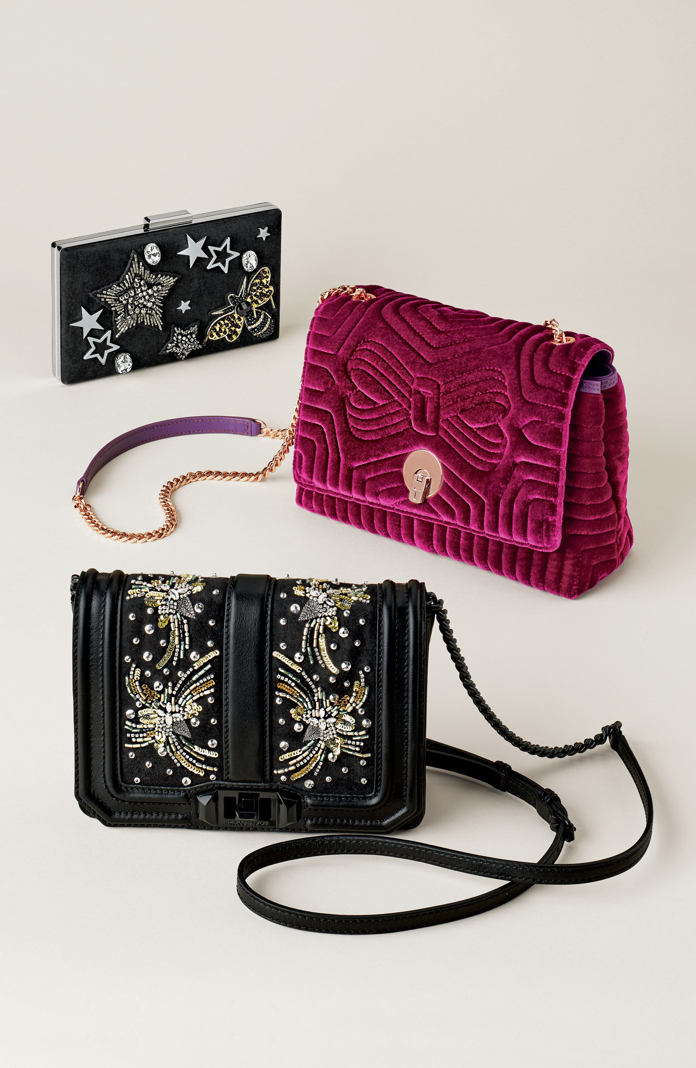 Alternate Image 7  - Ted Baker London Quilted Velvet Crossbody Bag