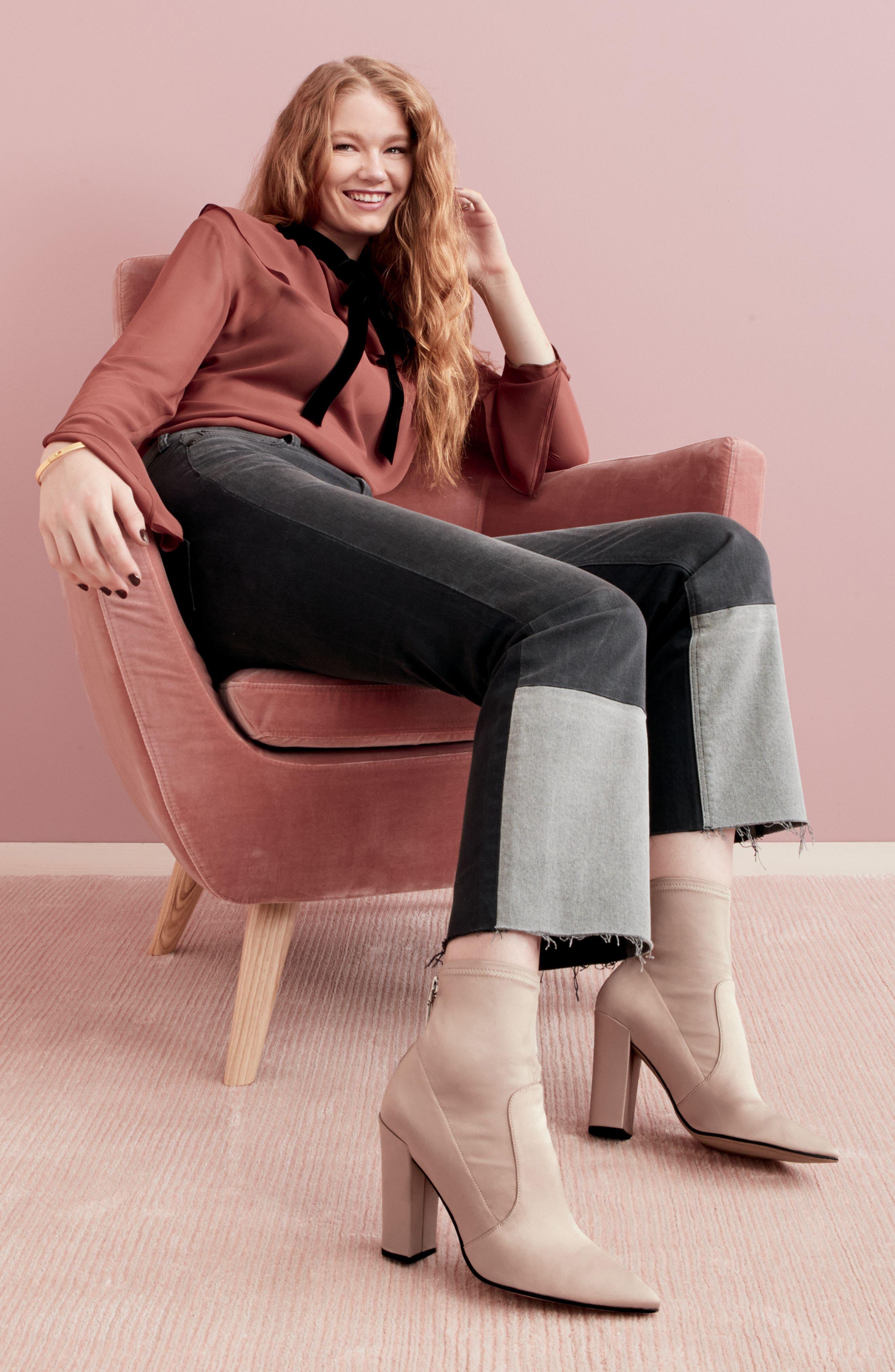 Alternate Image 7  - La Vie Rebecca Taylor Patch Jeans