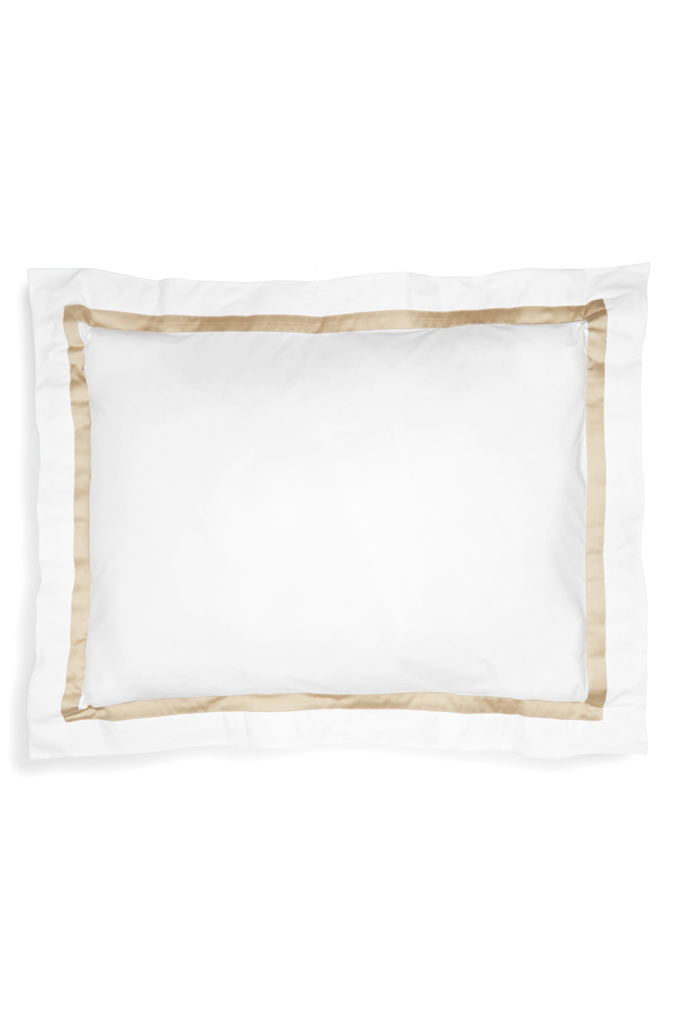 Lowell 600 Thread Count Sham,                             Main thumbnail 1, color,                             Champagne