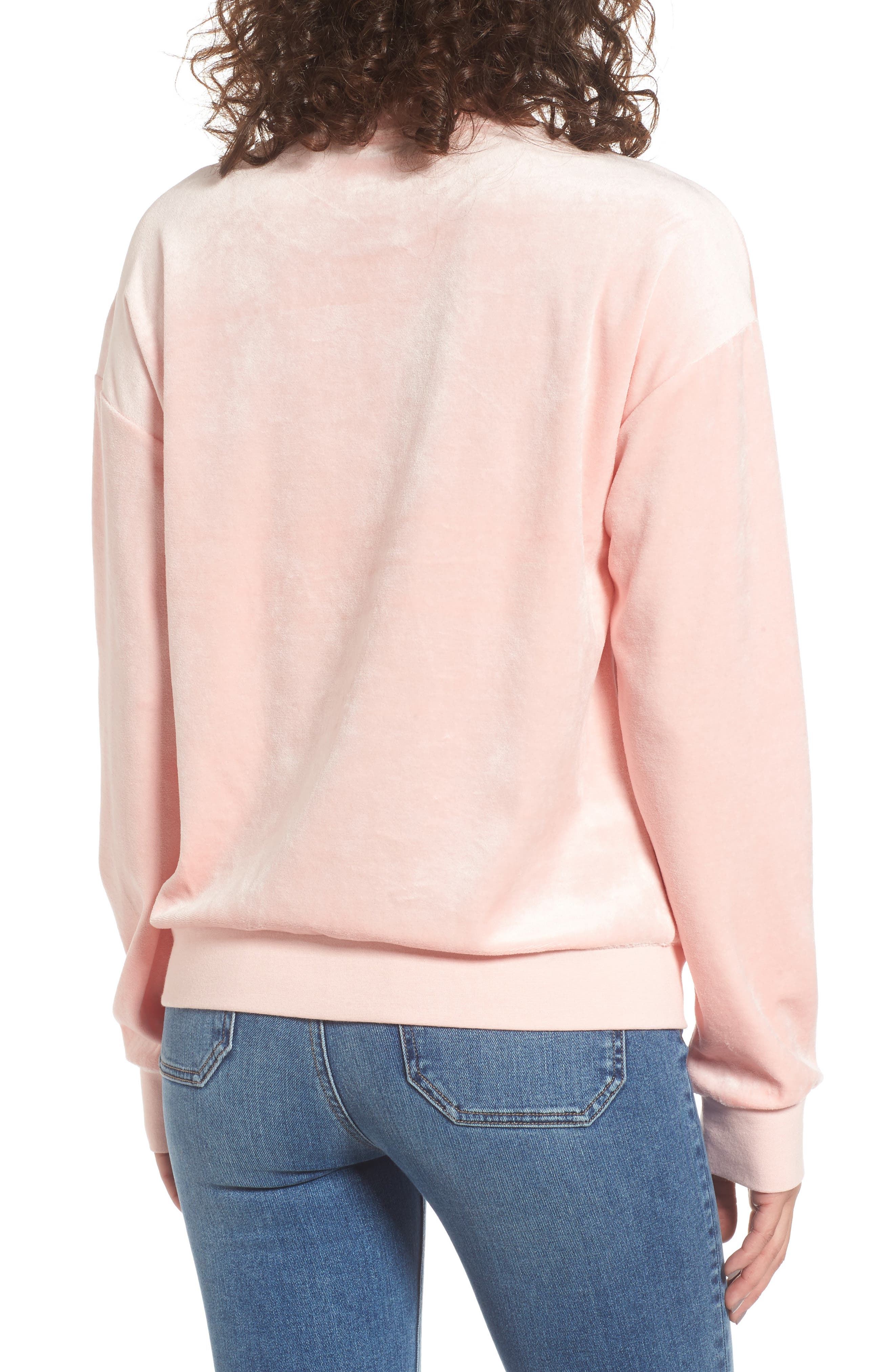 Velour Pullover,                             Alternate thumbnail 2, color,                             Sugared Icing
