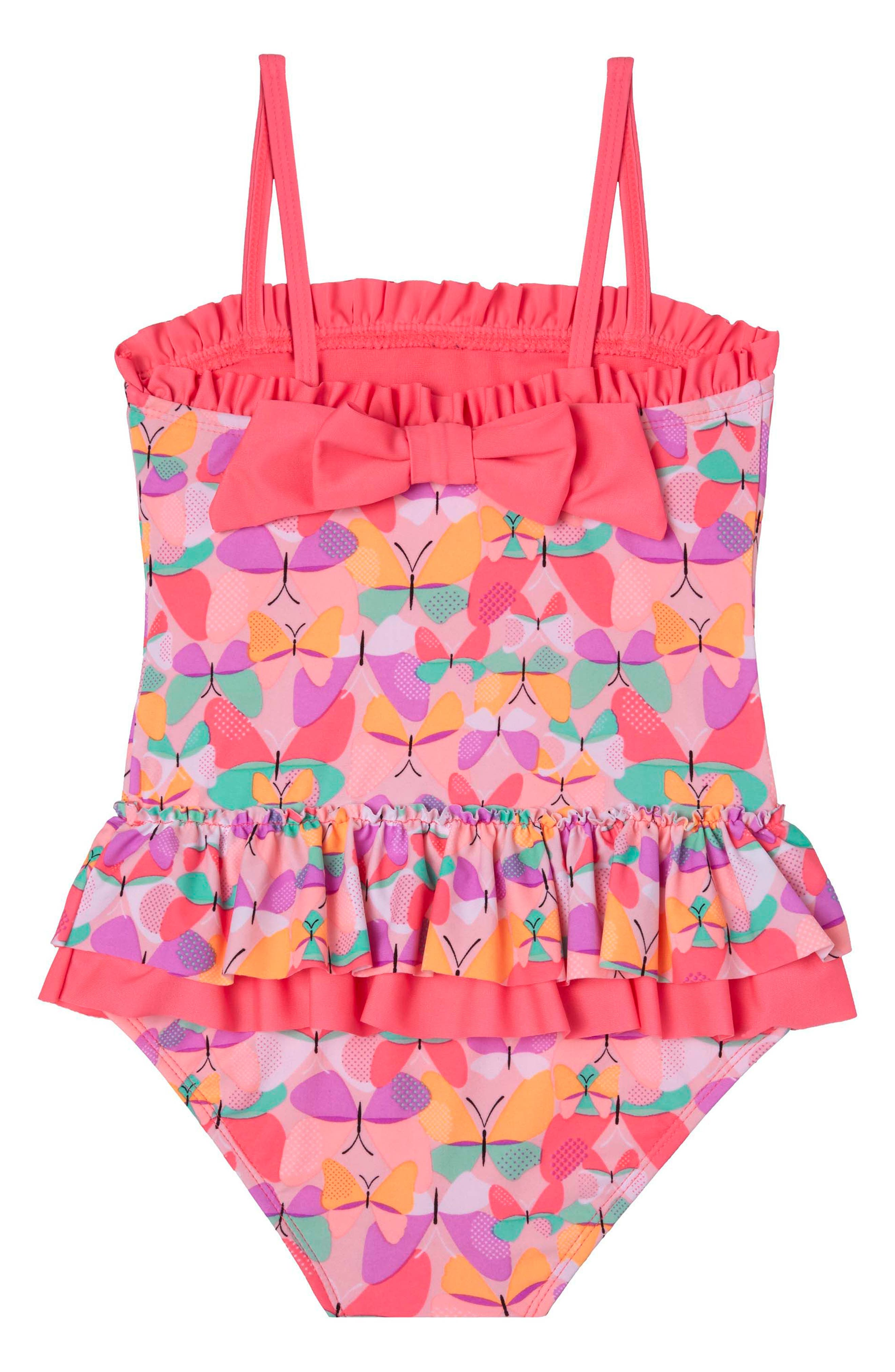 Butterfly Cutie One-Piece Swimsuit,                             Alternate thumbnail 2, color,                             Pink