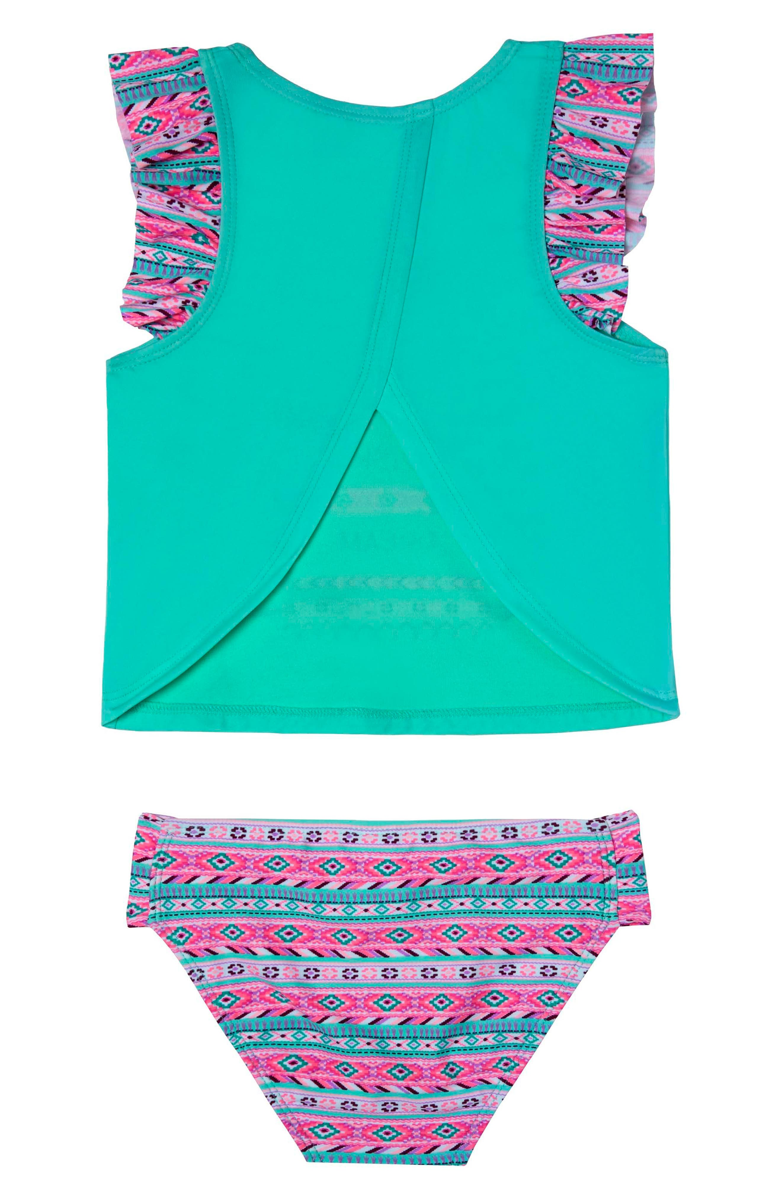 BFF - Hope, Wish & Dream Two-Piece Tankini Swimsuit,                             Alternate thumbnail 2, color,                             Green