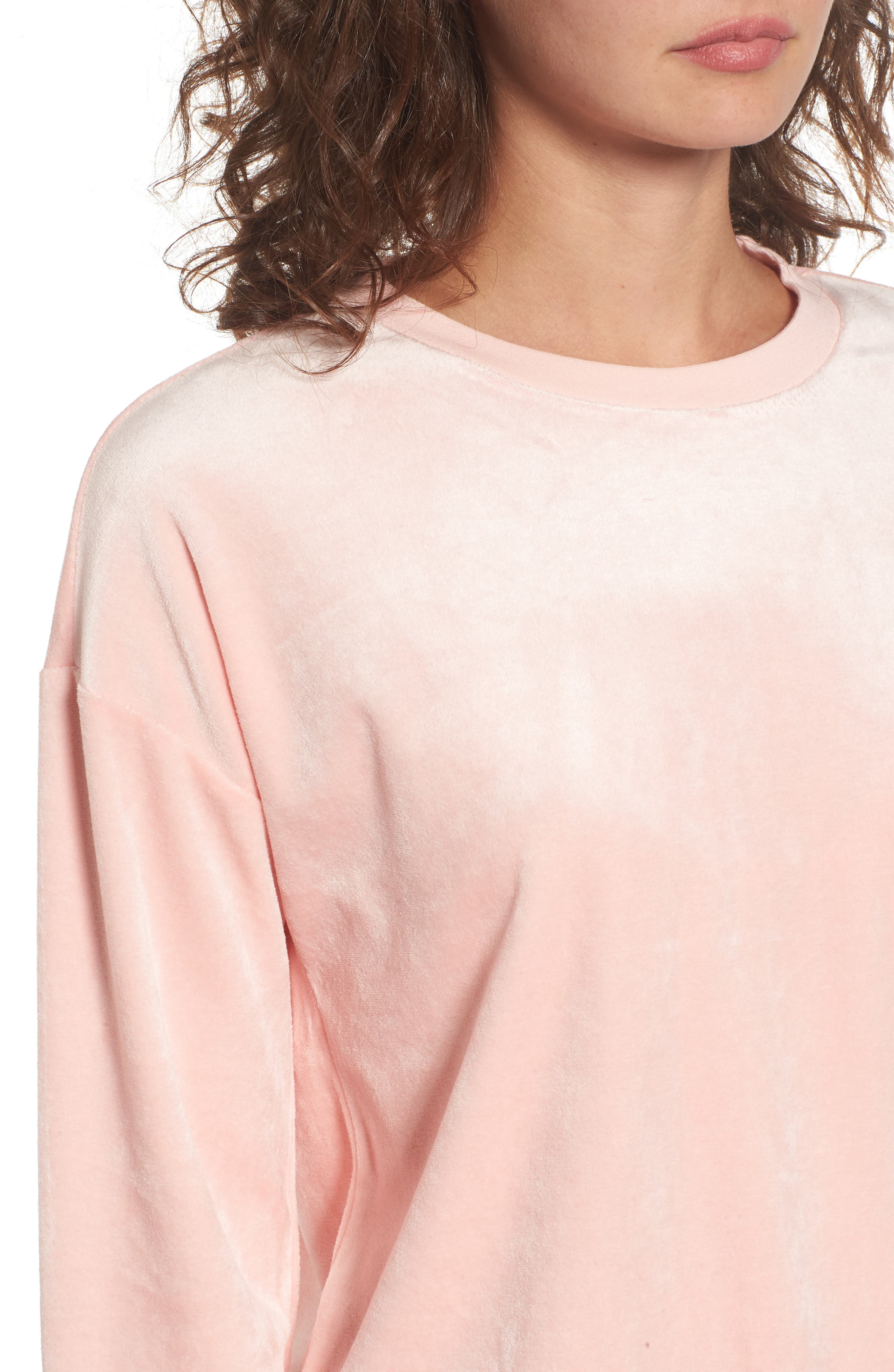 Velour Pullover,                             Alternate thumbnail 4, color,                             Sugared Icing