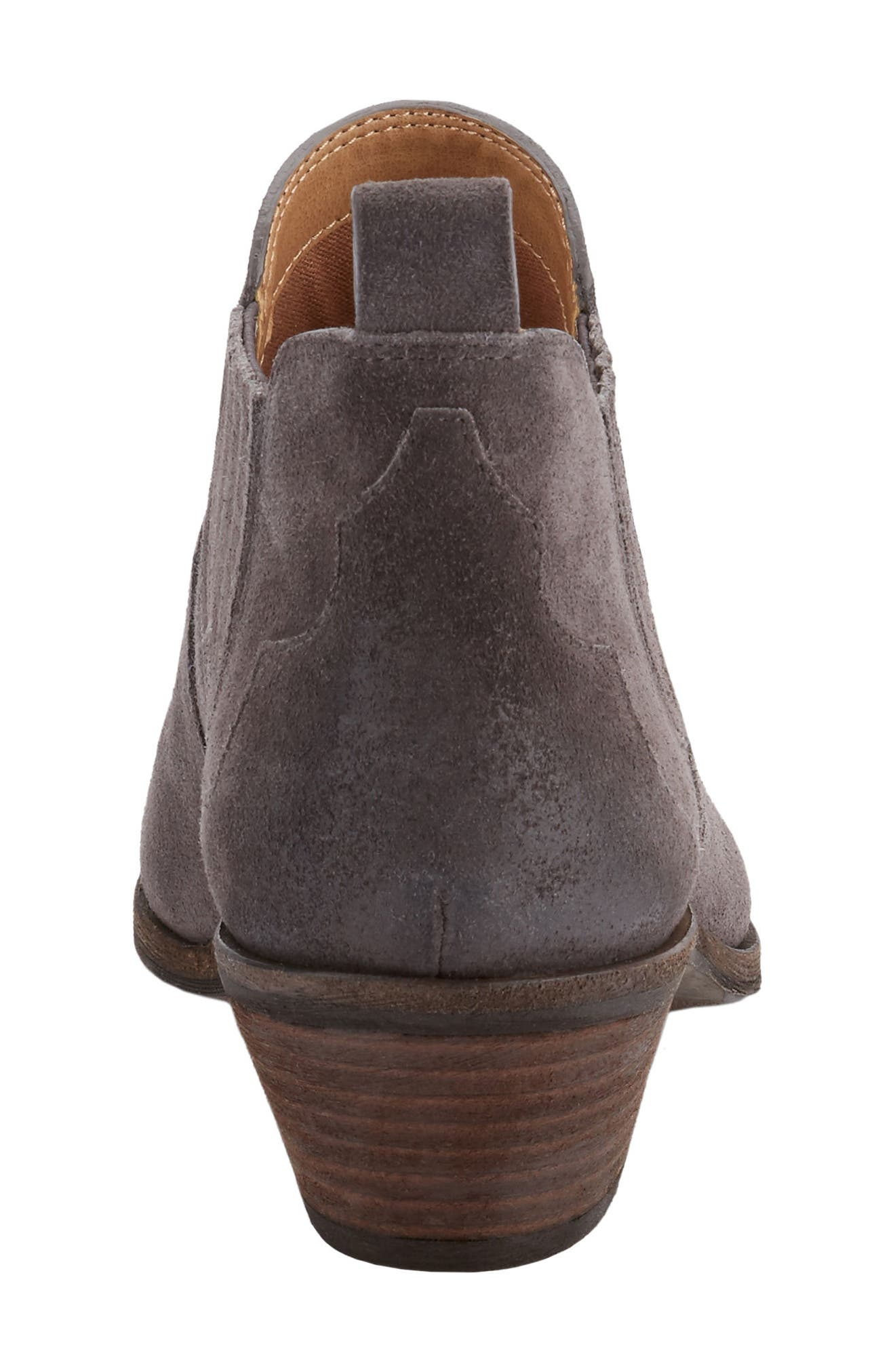 Naomi Bootie,                             Alternate thumbnail 6, color,                             Charcoal Suede