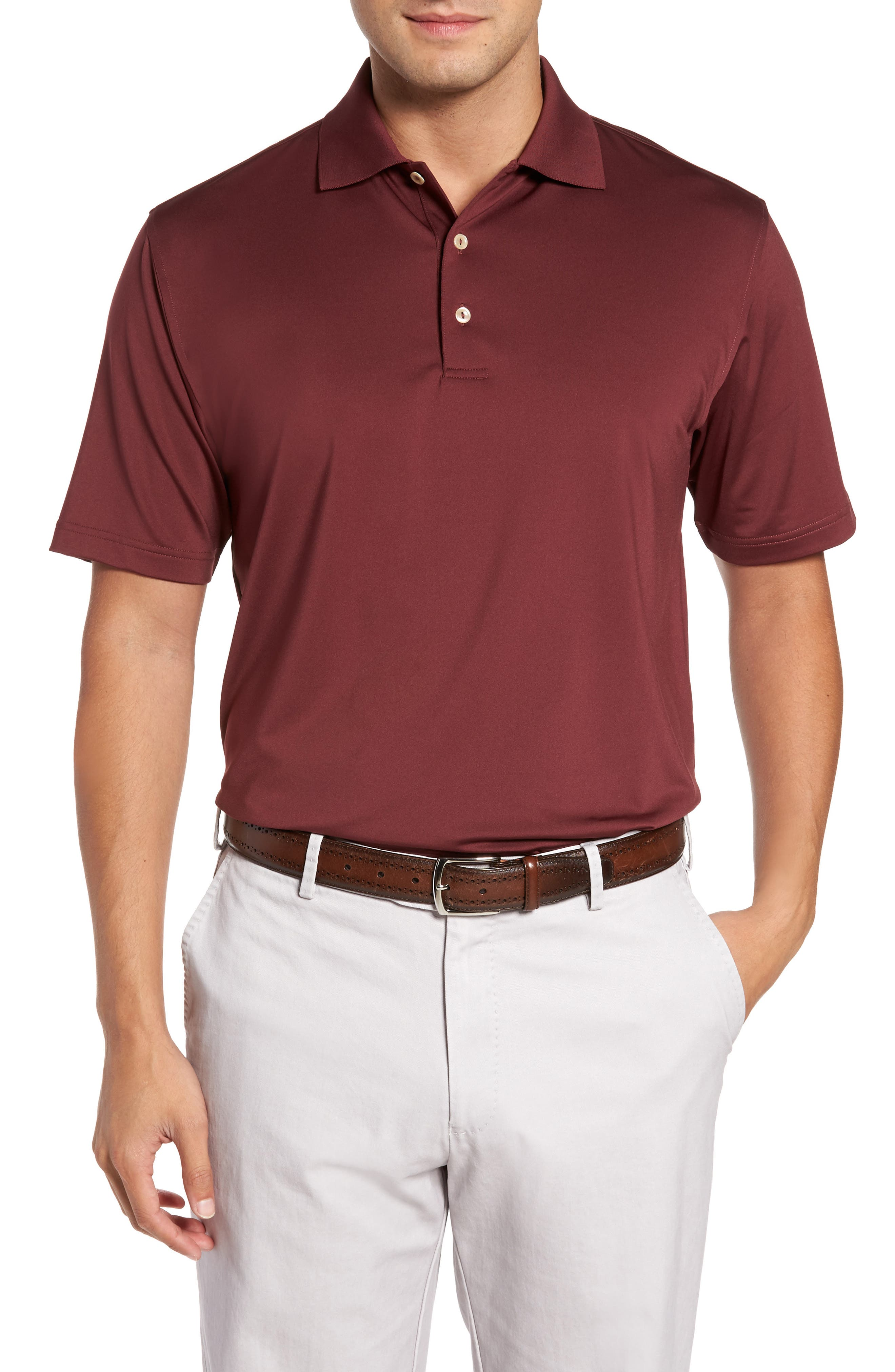 Peter Millar Stretch Knit Solid Polo