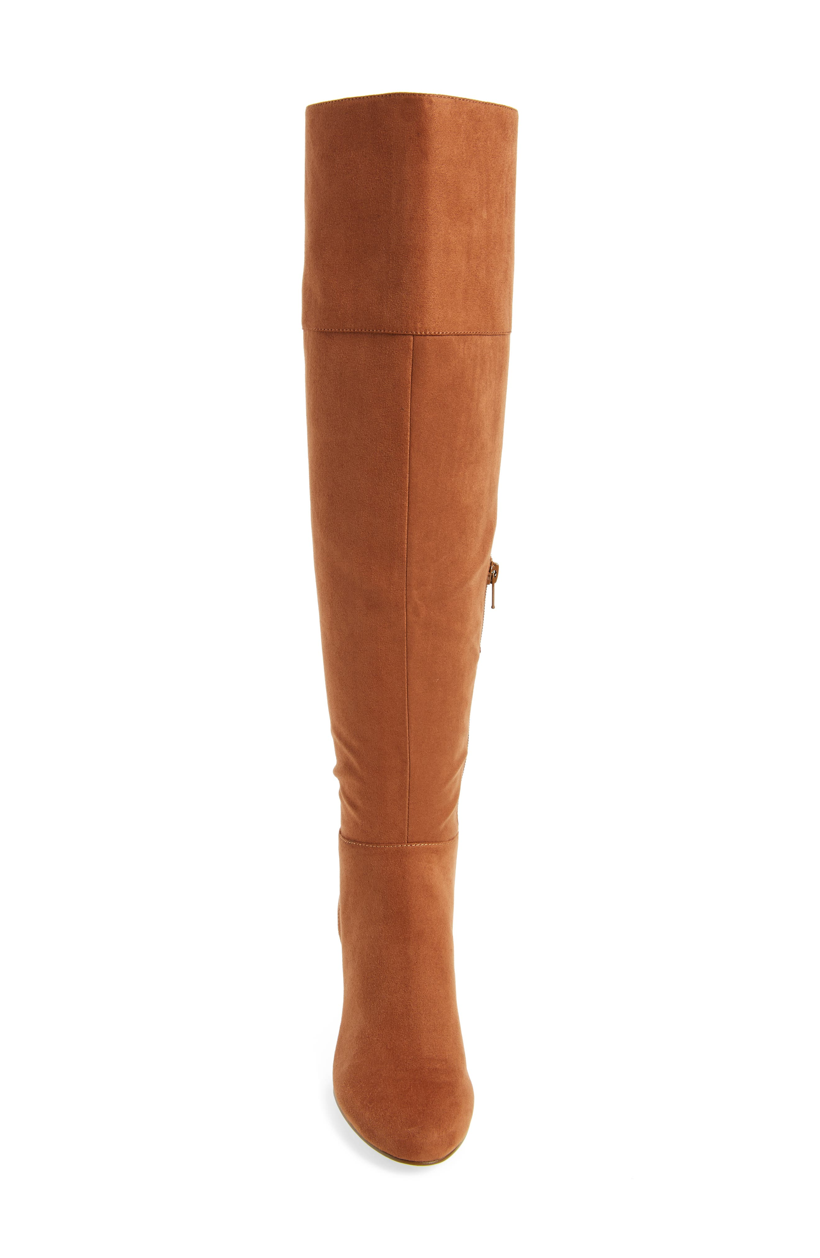 Telluride II Over the Knee Boot,                             Alternate thumbnail 4, color,                             Camel Suede