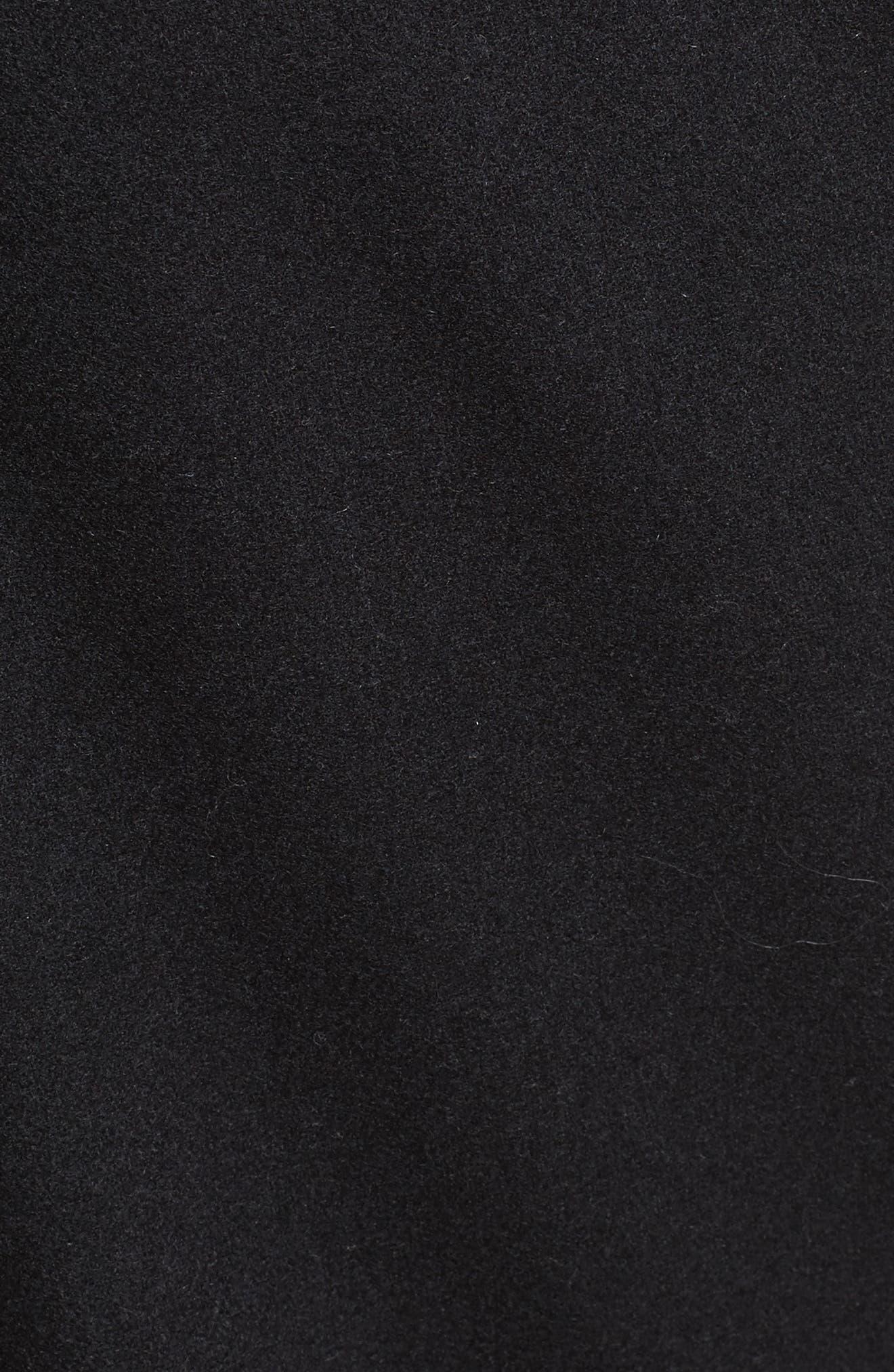 Cropped Wool Blend Pants,                             Alternate thumbnail 5, color,                             Black