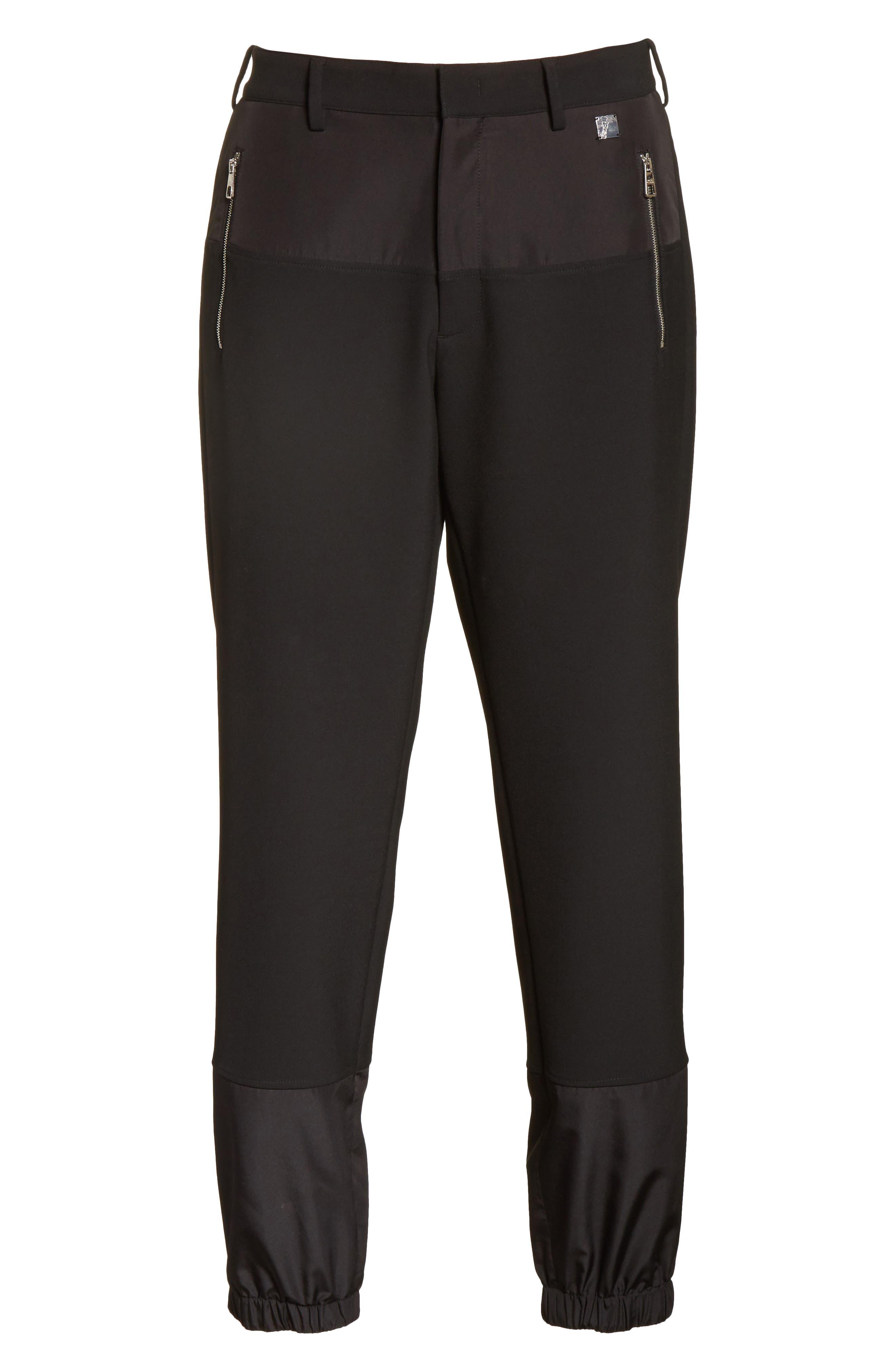 Contrast Panel Jogger Pants,                             Alternate thumbnail 6, color,                             Black