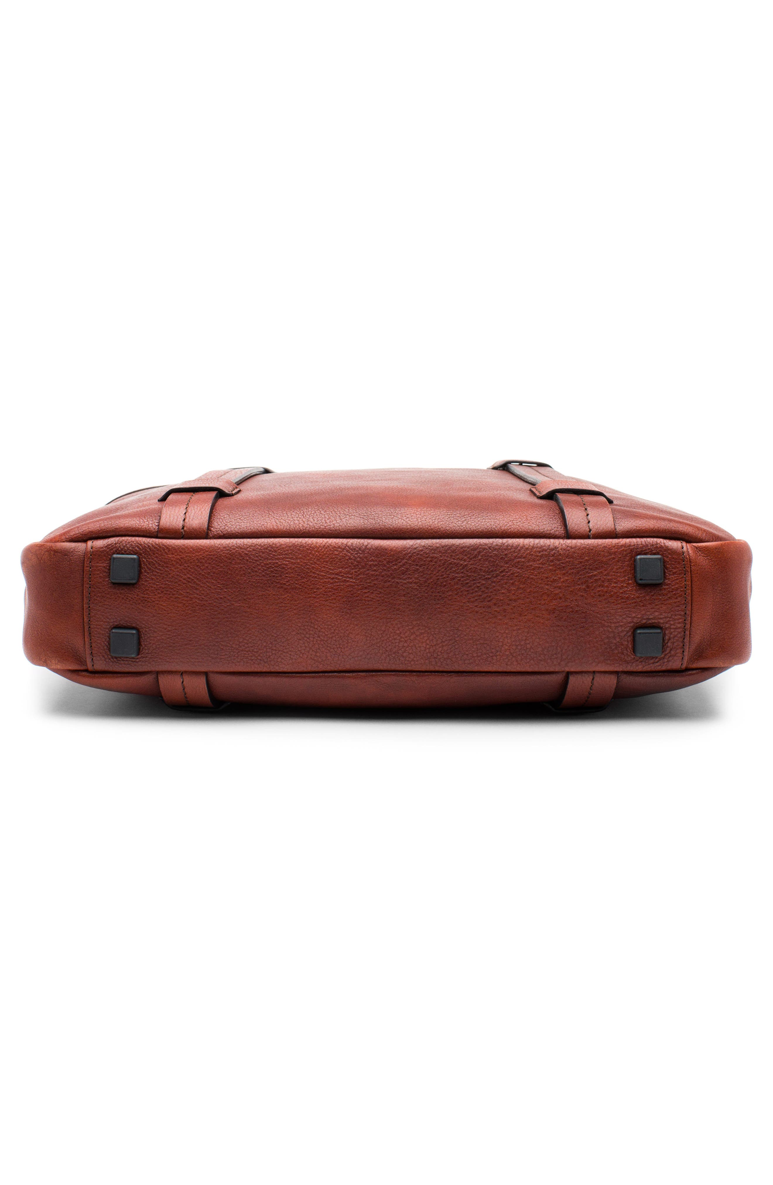 Leather Briefcase,                             Alternate thumbnail 5, color,                             Dark Brown