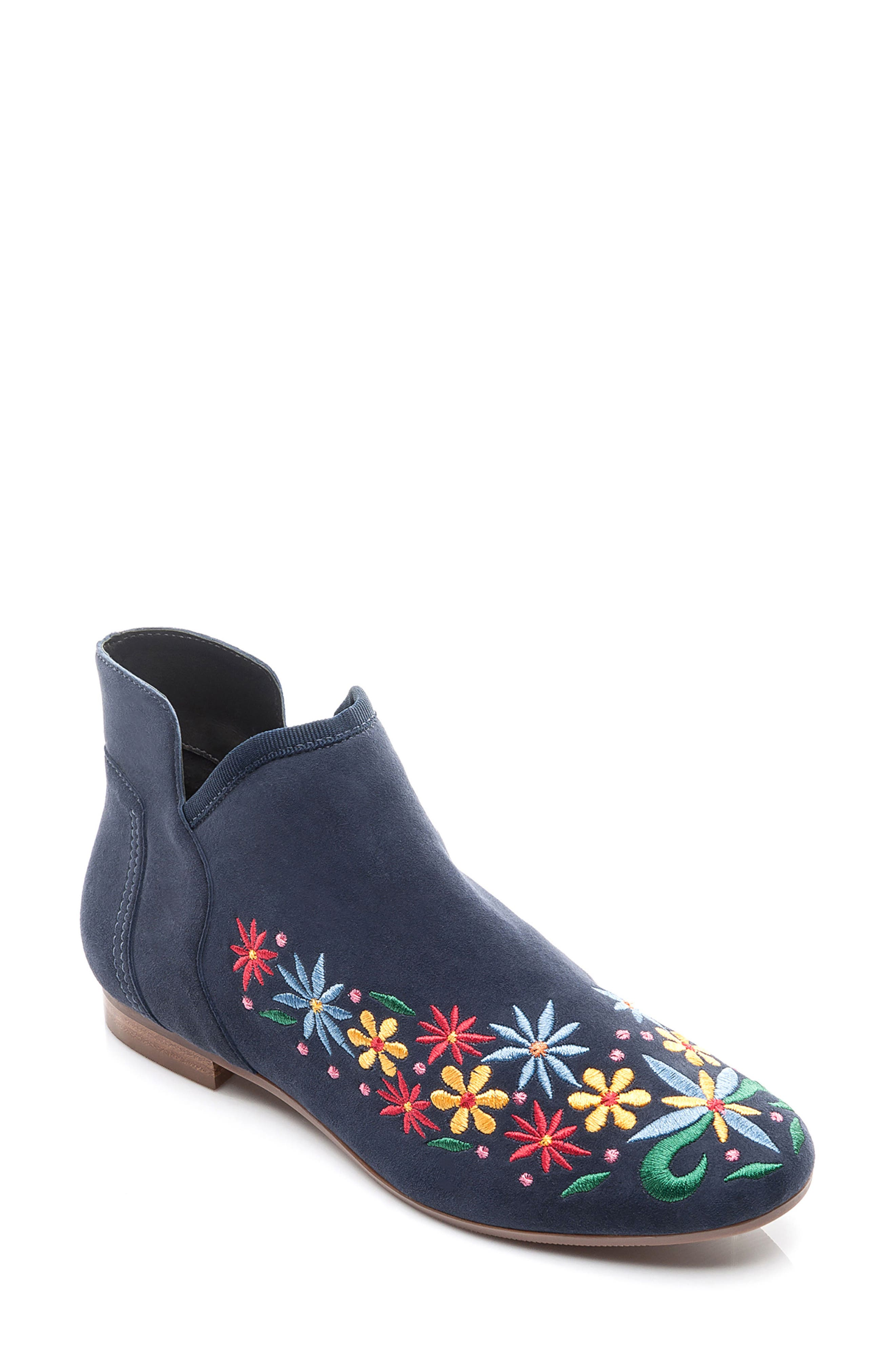 Bernardo Francine Embroidered Bootie (Women)