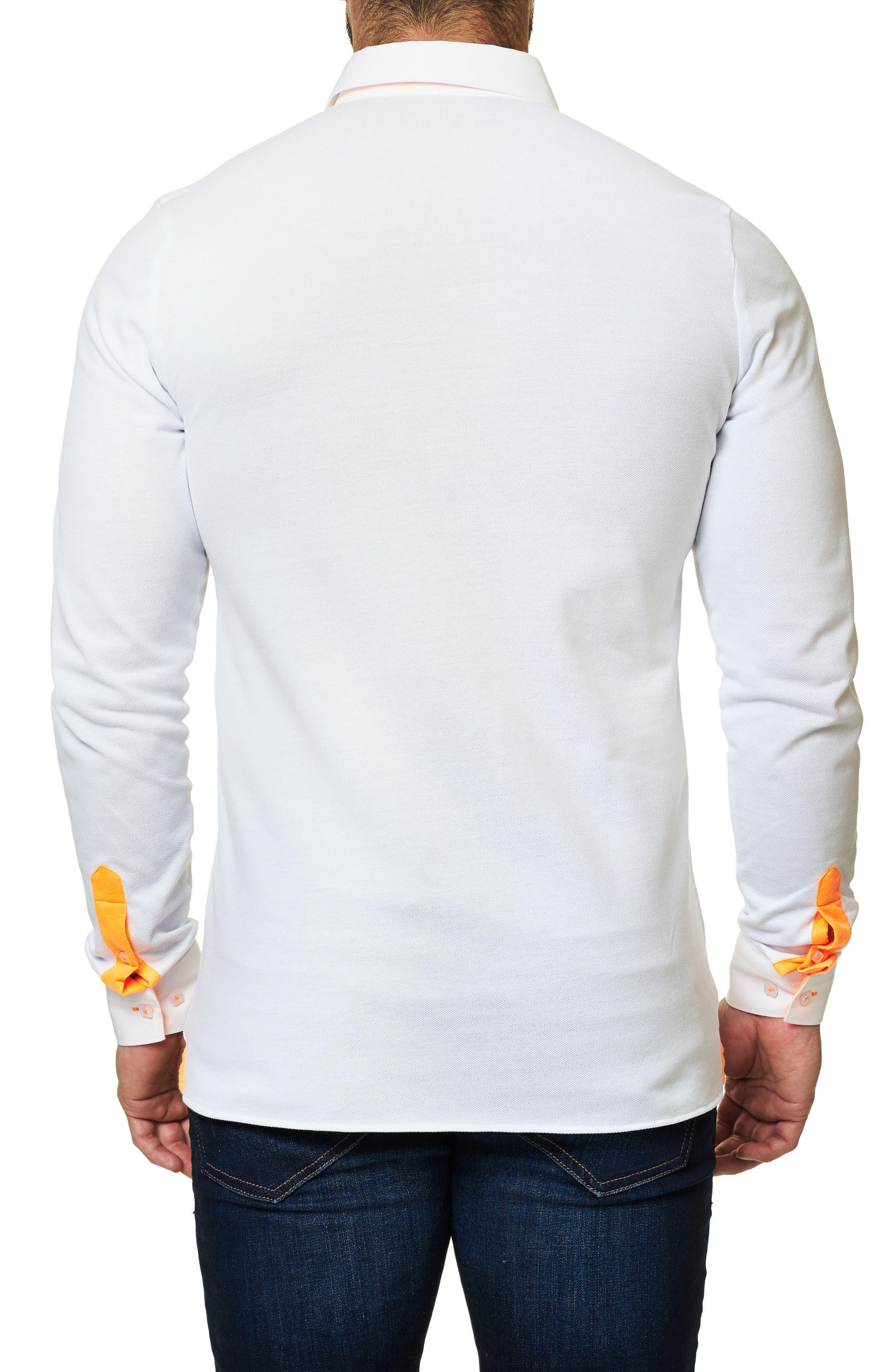 Long Sleeve Sport Shirt,                             Alternate thumbnail 2, color,                             Solid White