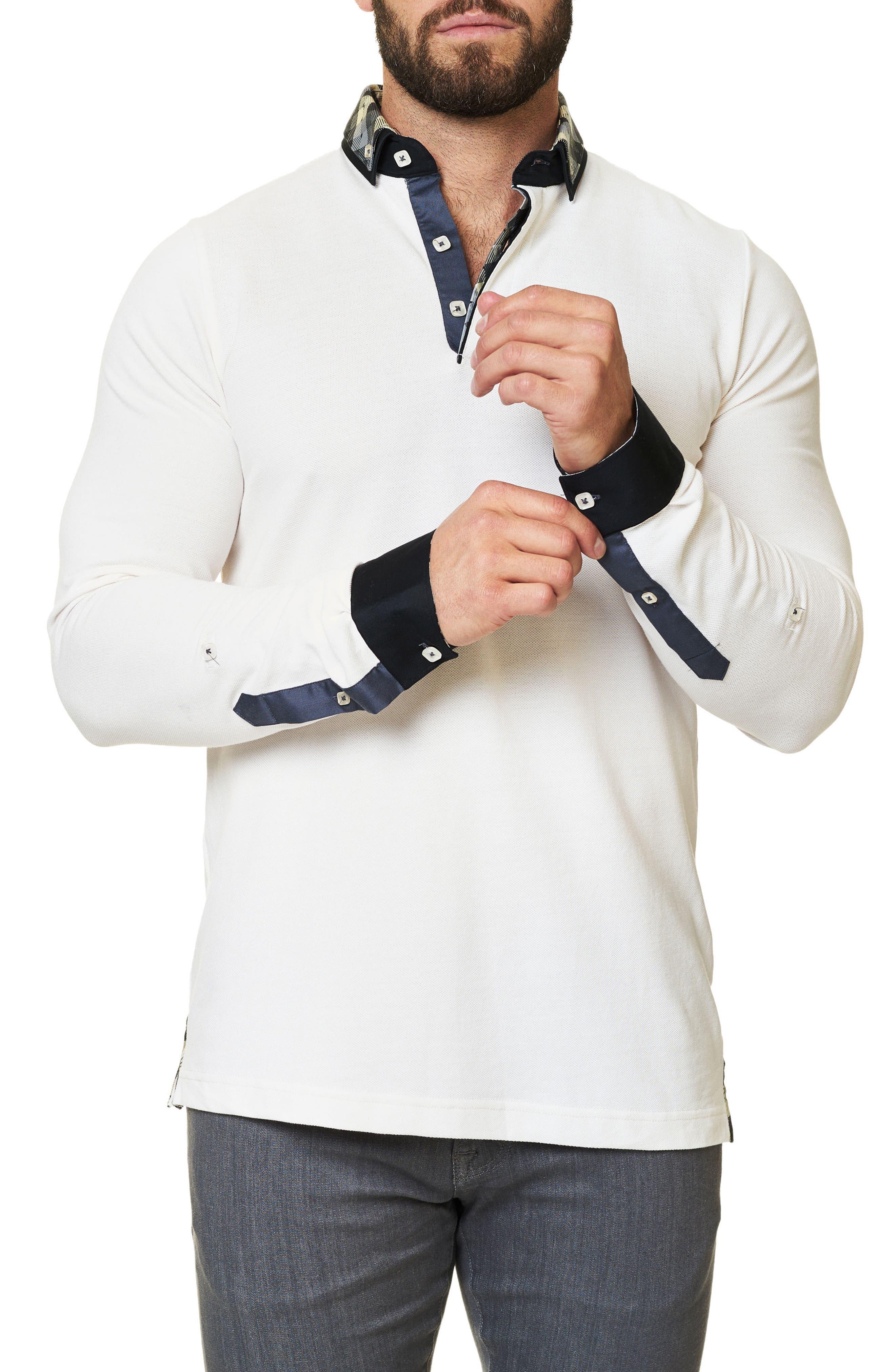 Alternate Image 4  - Maceoo Long Sleeve Polo