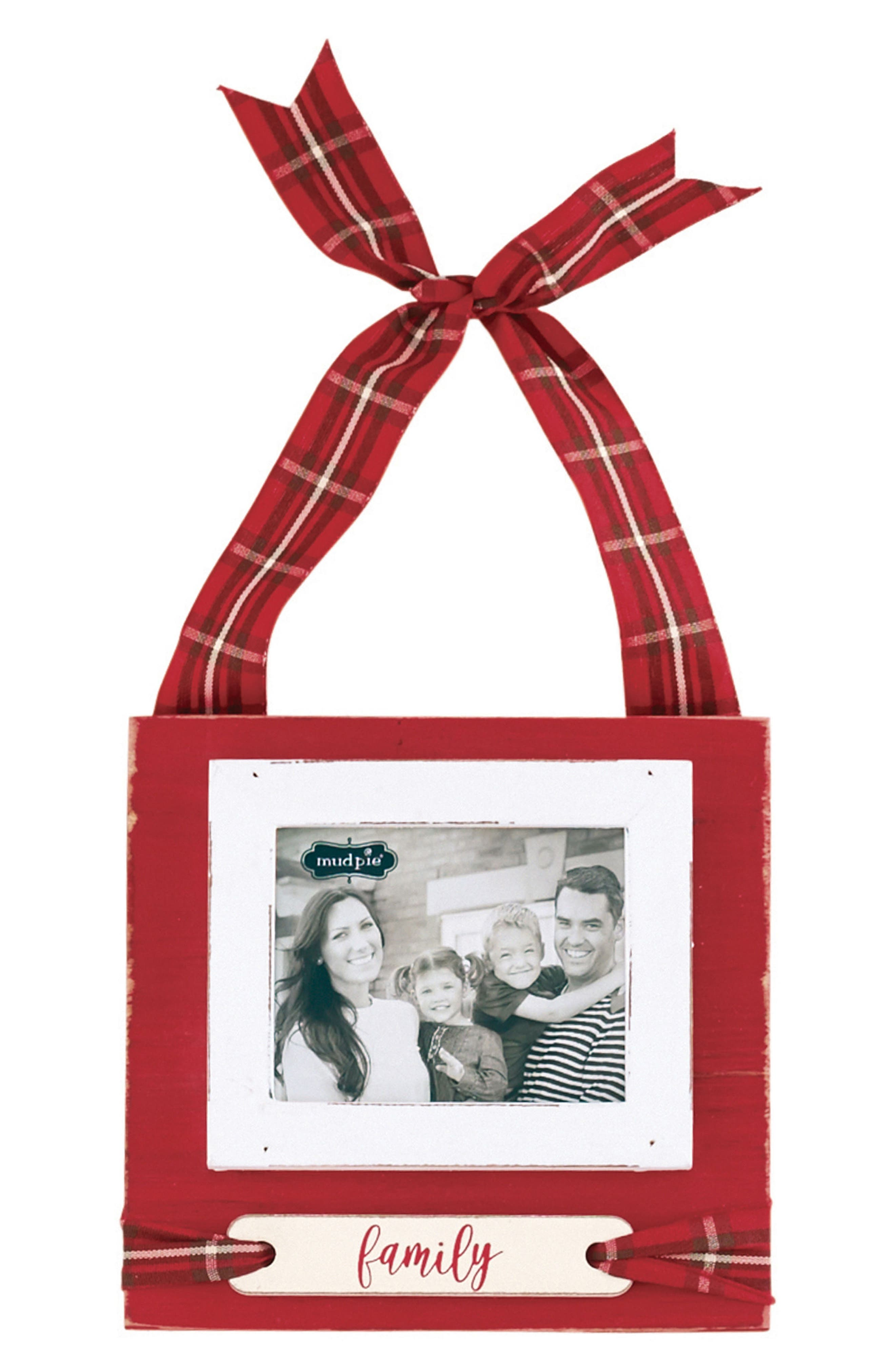 Family Frame Ornament,                         Main,                         color, Red