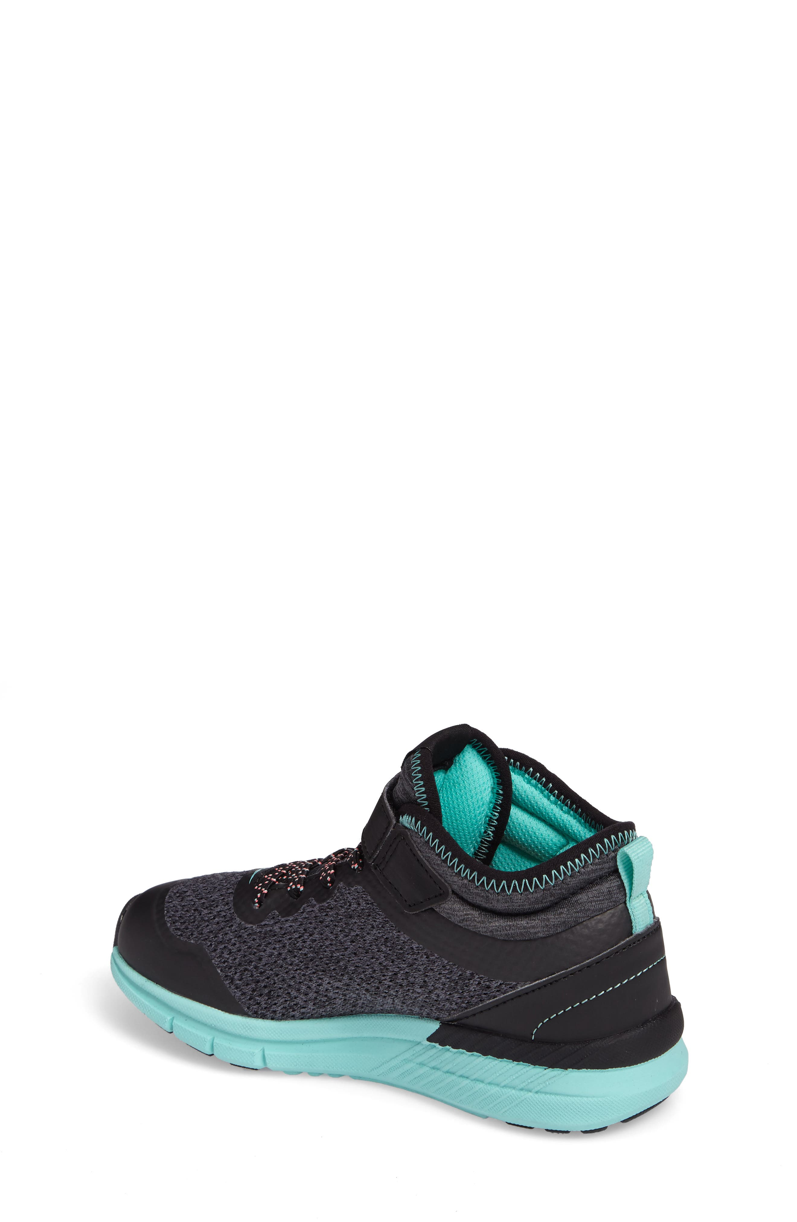 Ideal Sneaker,                             Alternate thumbnail 2, color,                             Black/ Turquoise