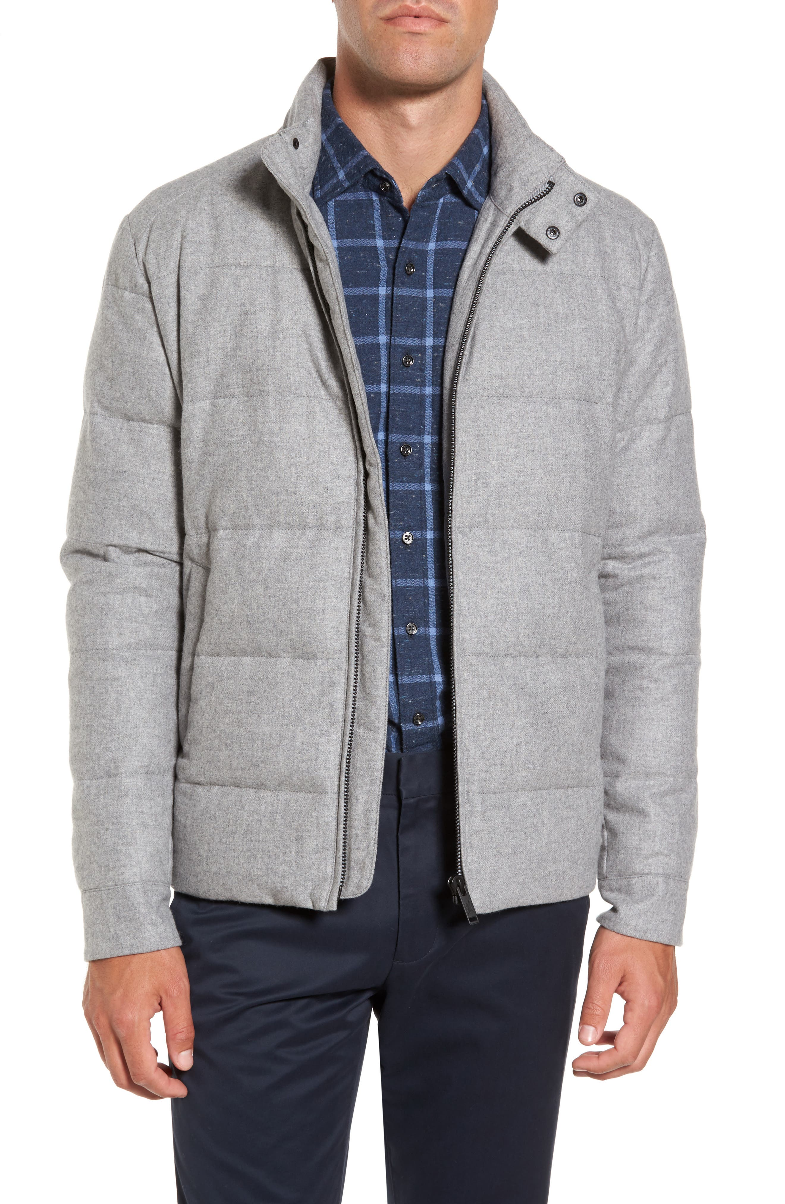 Boltons Water-Resistant Wool Down Jacket,                             Main thumbnail 1, color,                             Ash