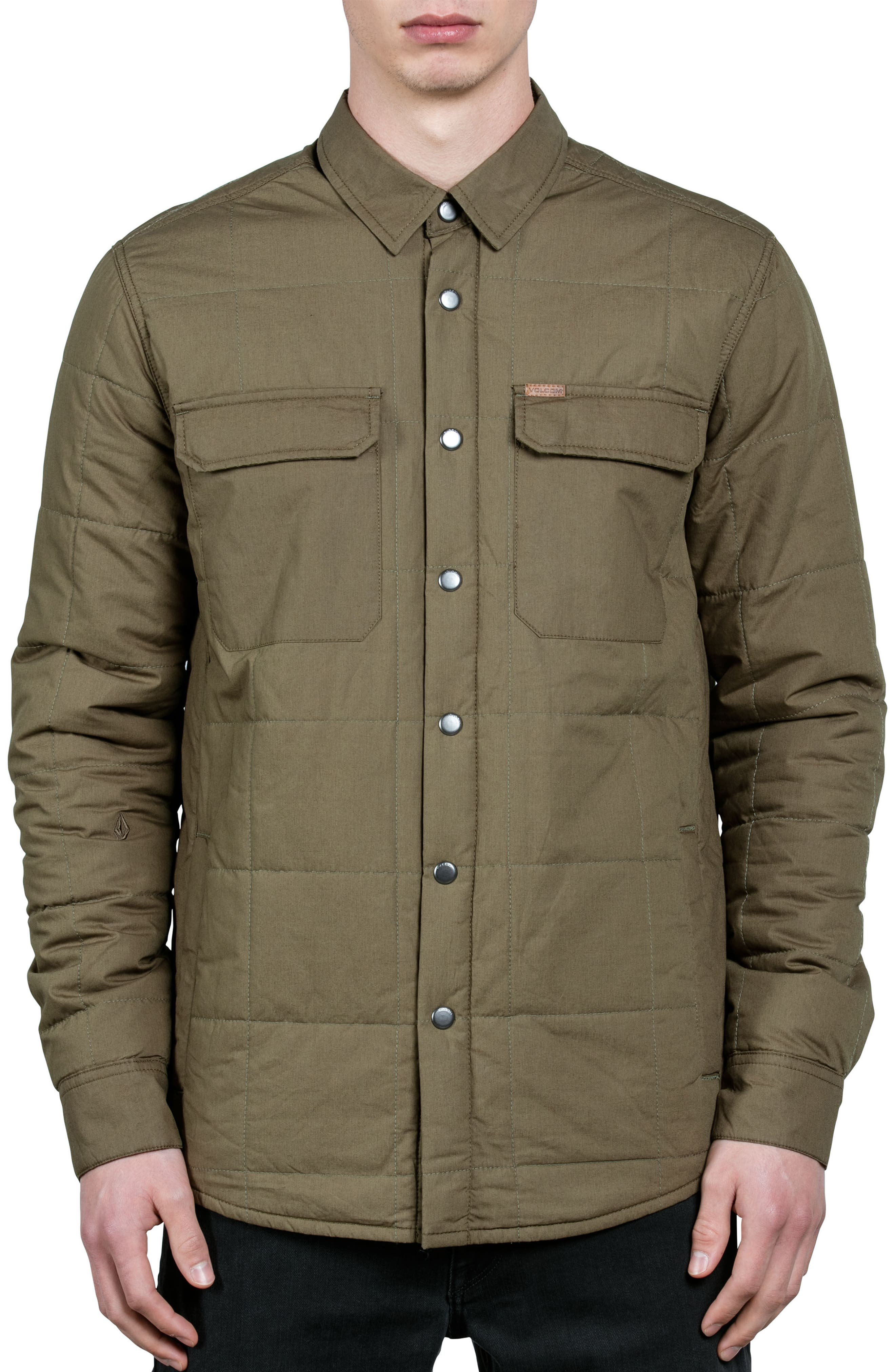 Larkin Quilted Shirt Jacket,                         Main,                         color, Green