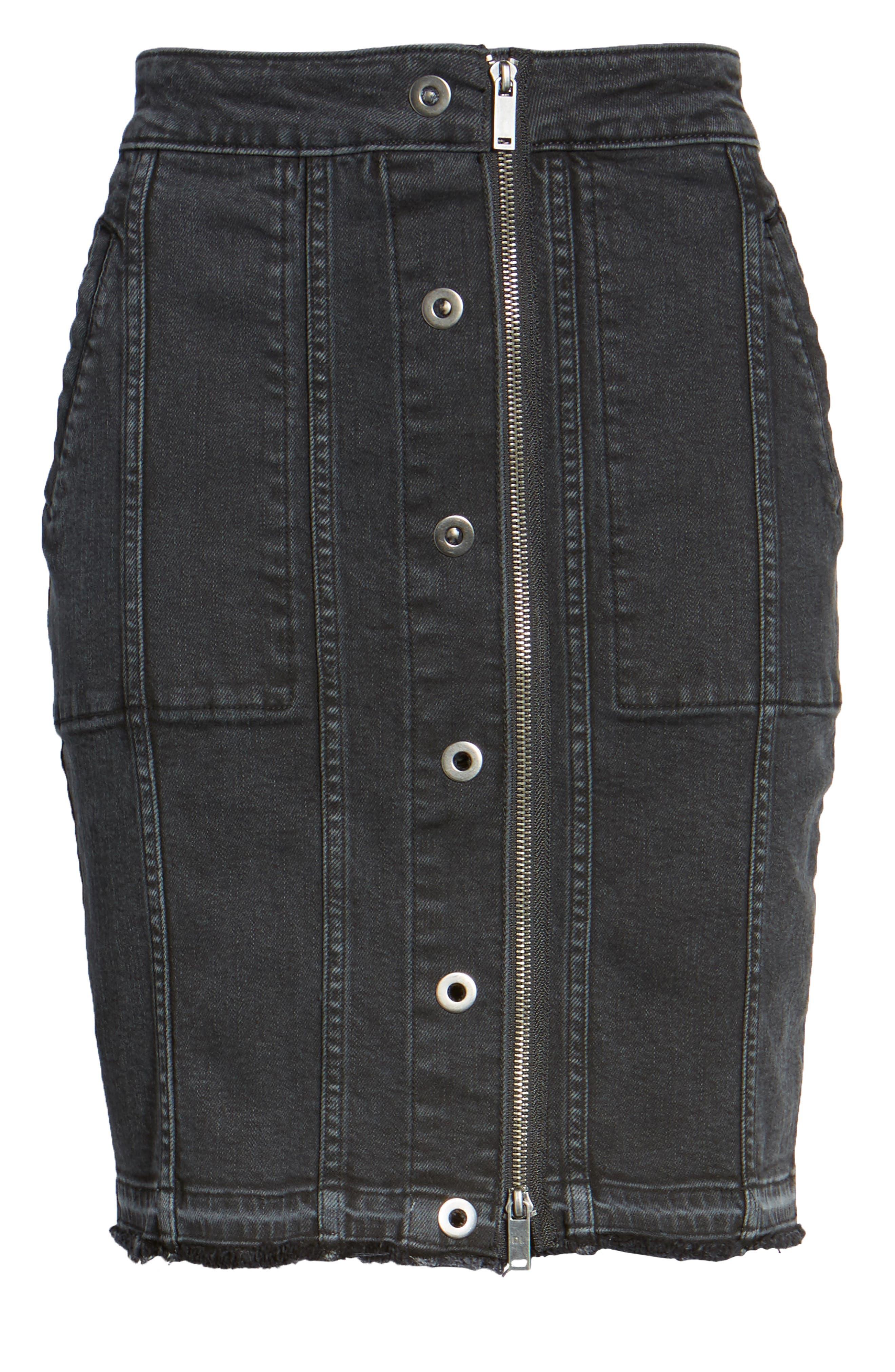 Alternate Image 6  - DL1961 Poppy Denim Miniskirt
