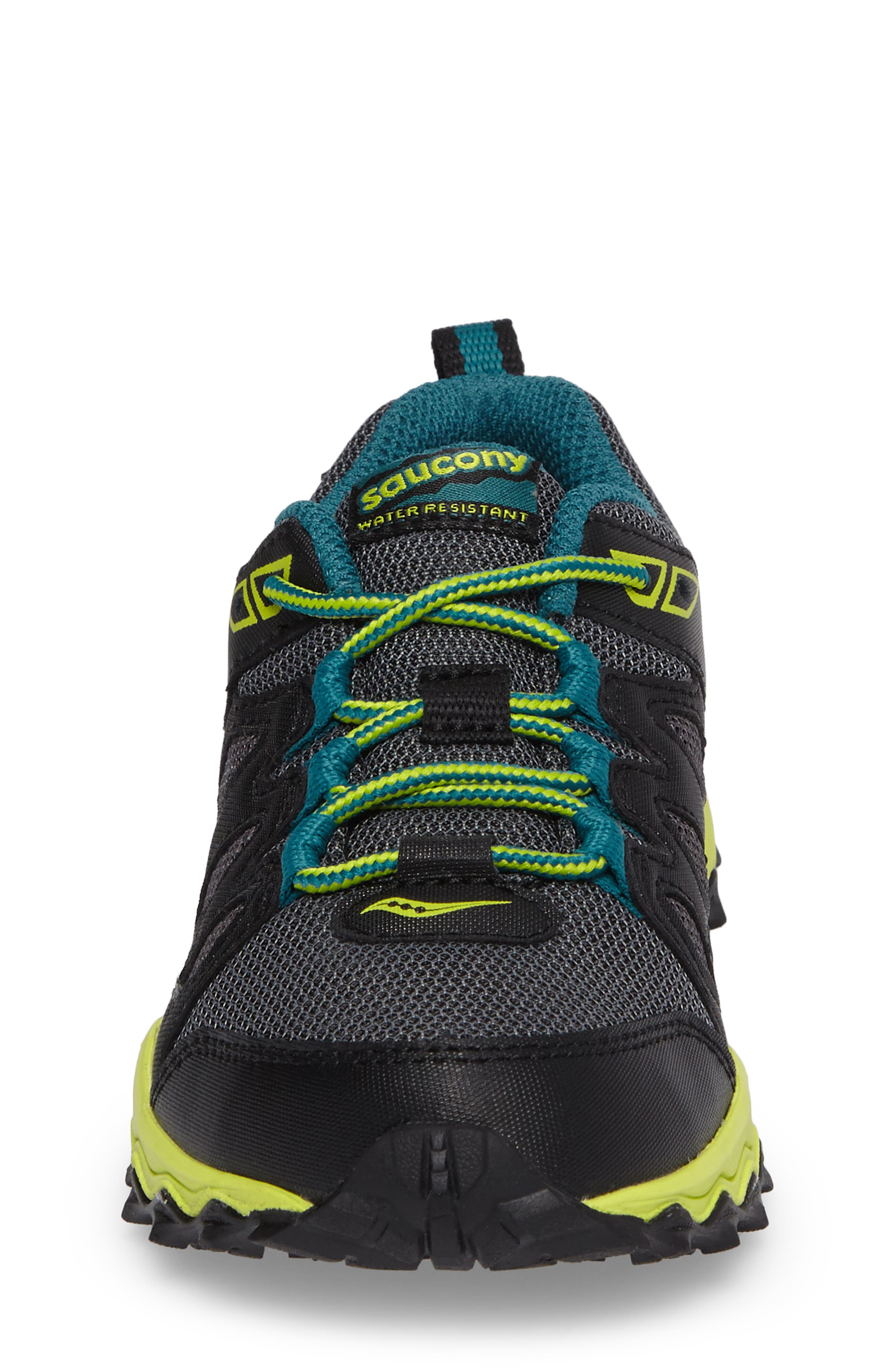 Peregrine Shield Water-Resistant Sneaker,                             Alternate thumbnail 4, color,                             Black/ Lime/ Green