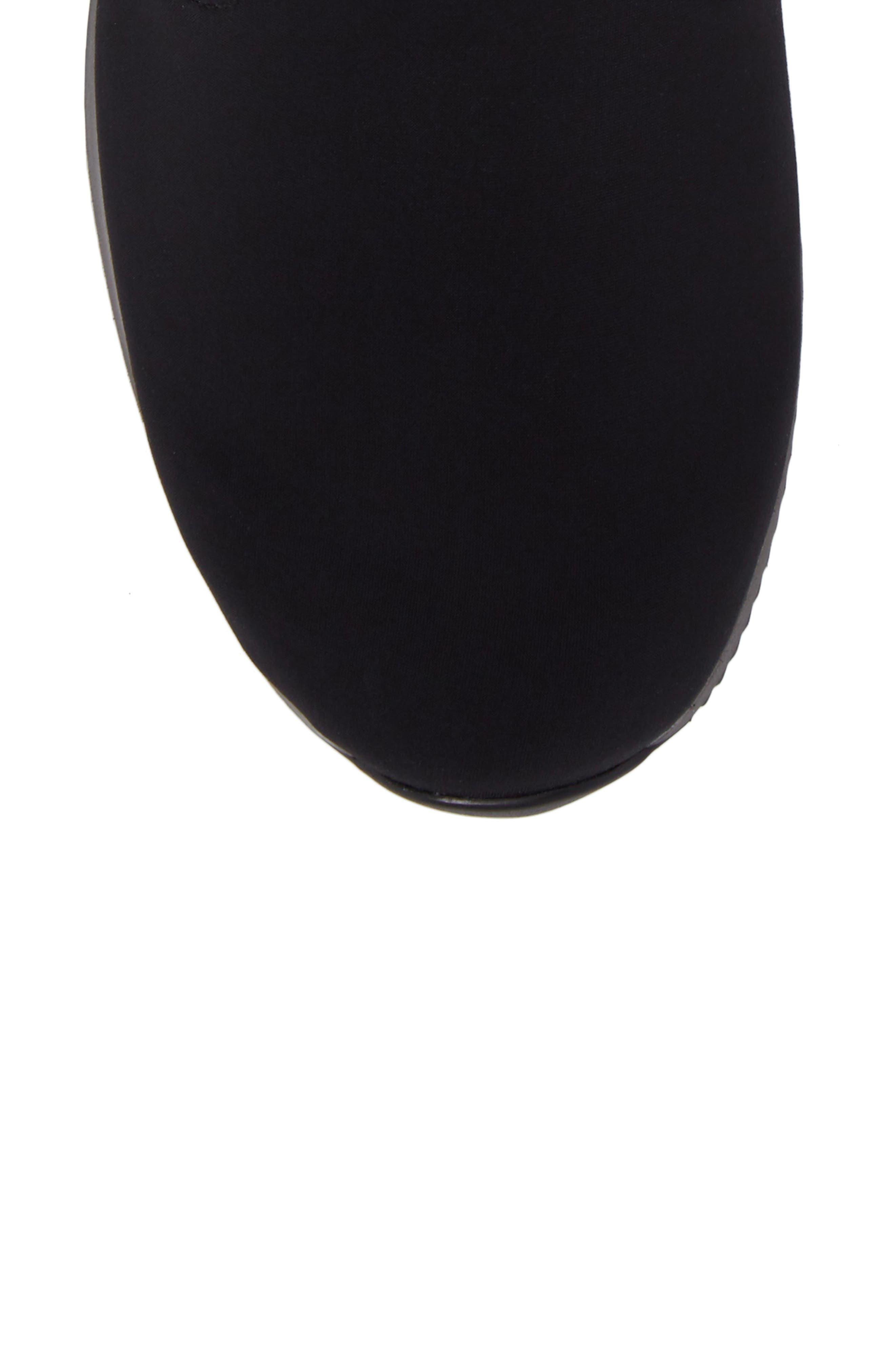 Luella Waterproof Gore-Tex<sup>®</sup> Boot,                             Alternate thumbnail 5, color,                             Black Textile