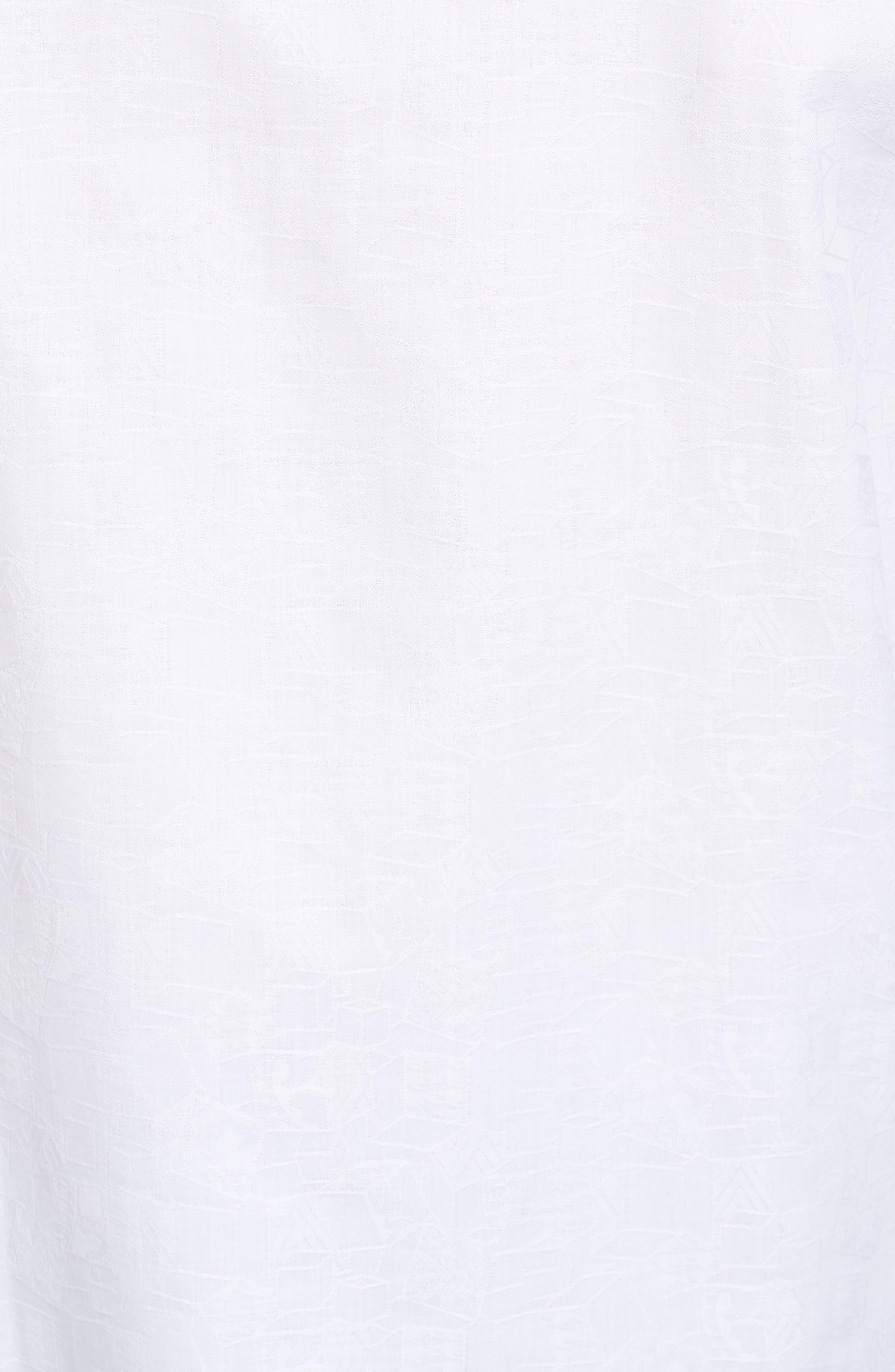 Classic Fit Jacquard Sport Shirt,                             Alternate thumbnail 5, color,                             White