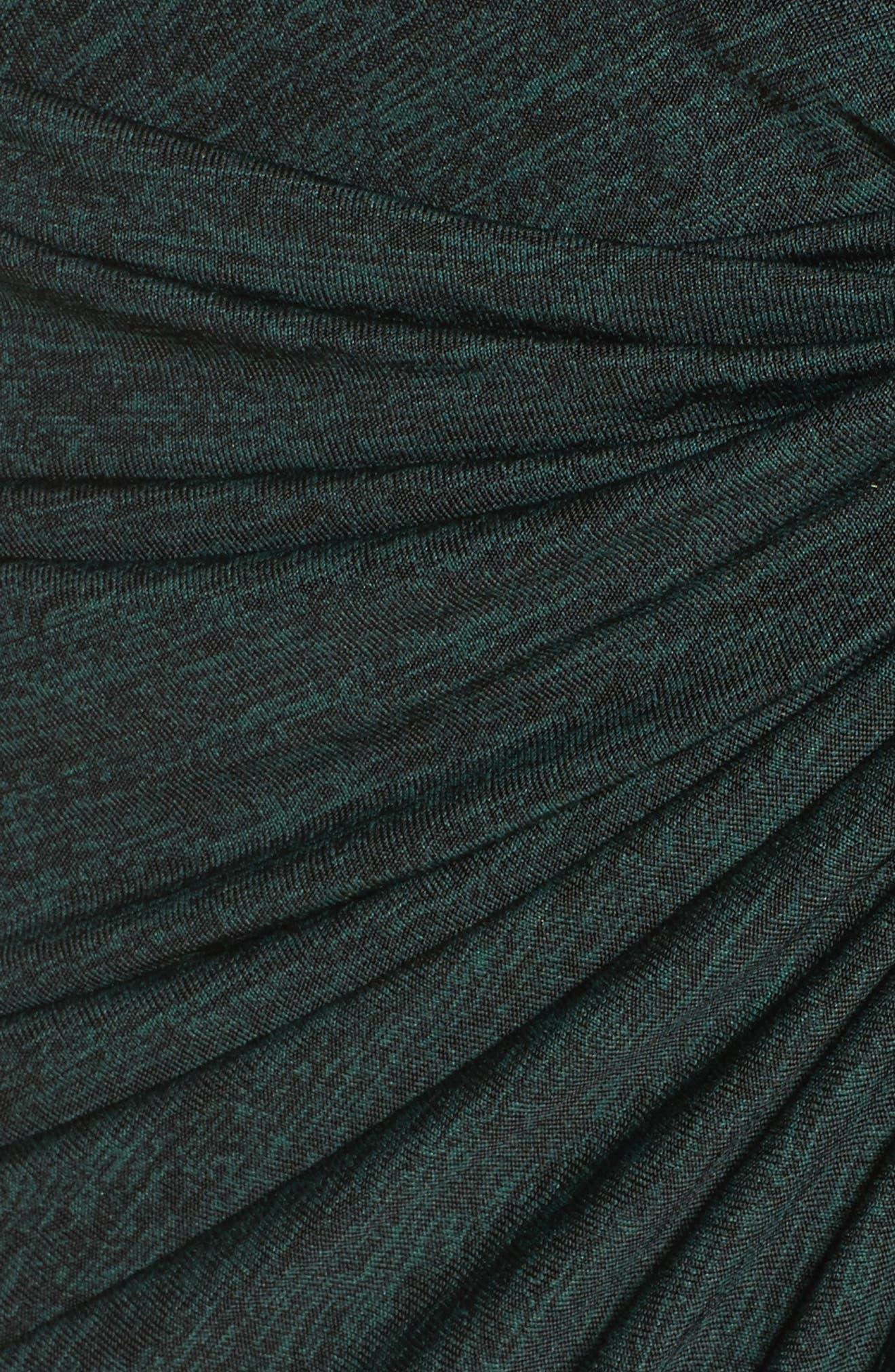 Jaspee Knot Midi Dress,                             Alternate thumbnail 2, color,                             Hunter Black