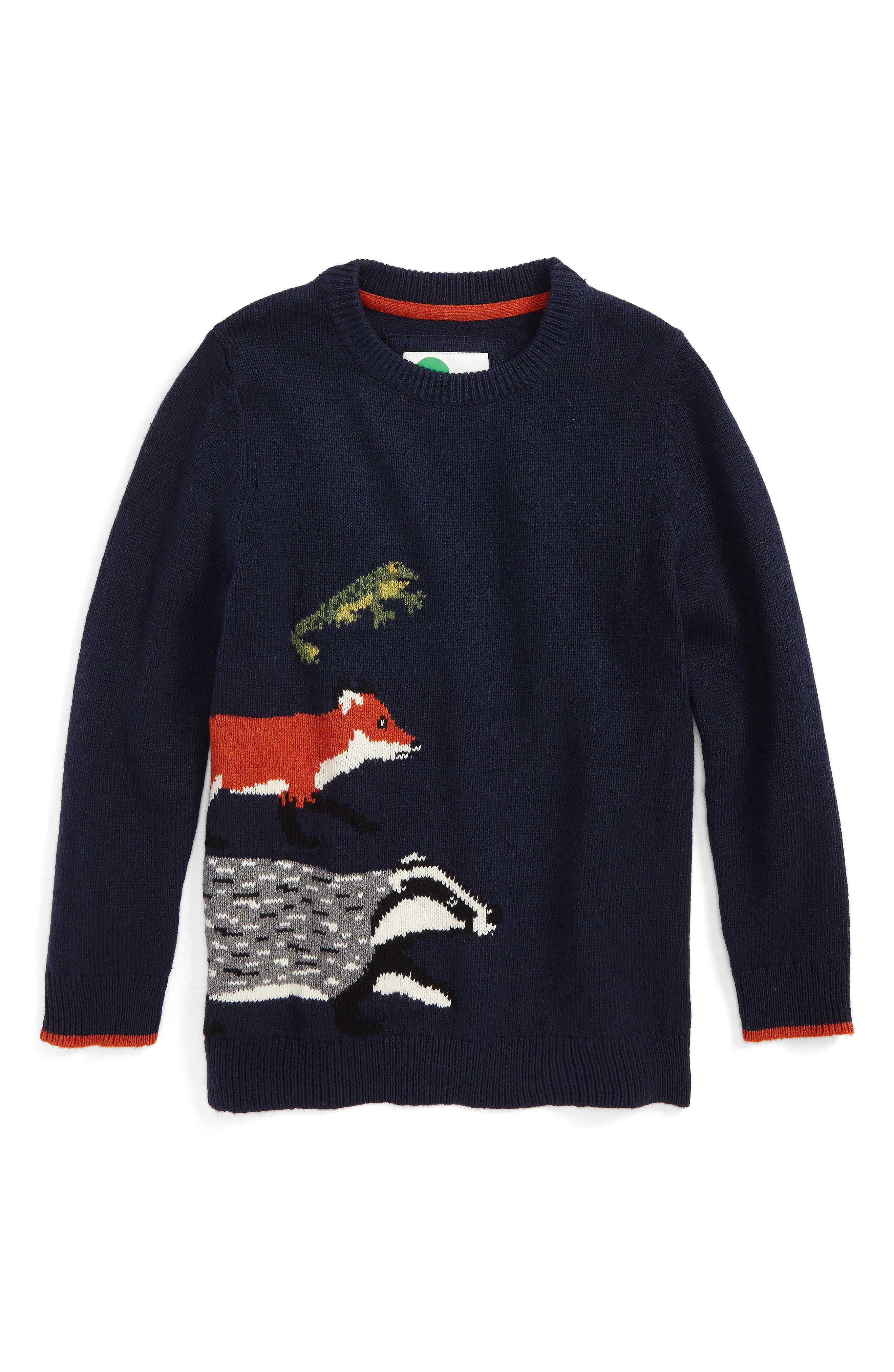 Mini Boden Wild Adventure Intarsia Sweater (Toddler Boys, Little Boys & Big Boys)