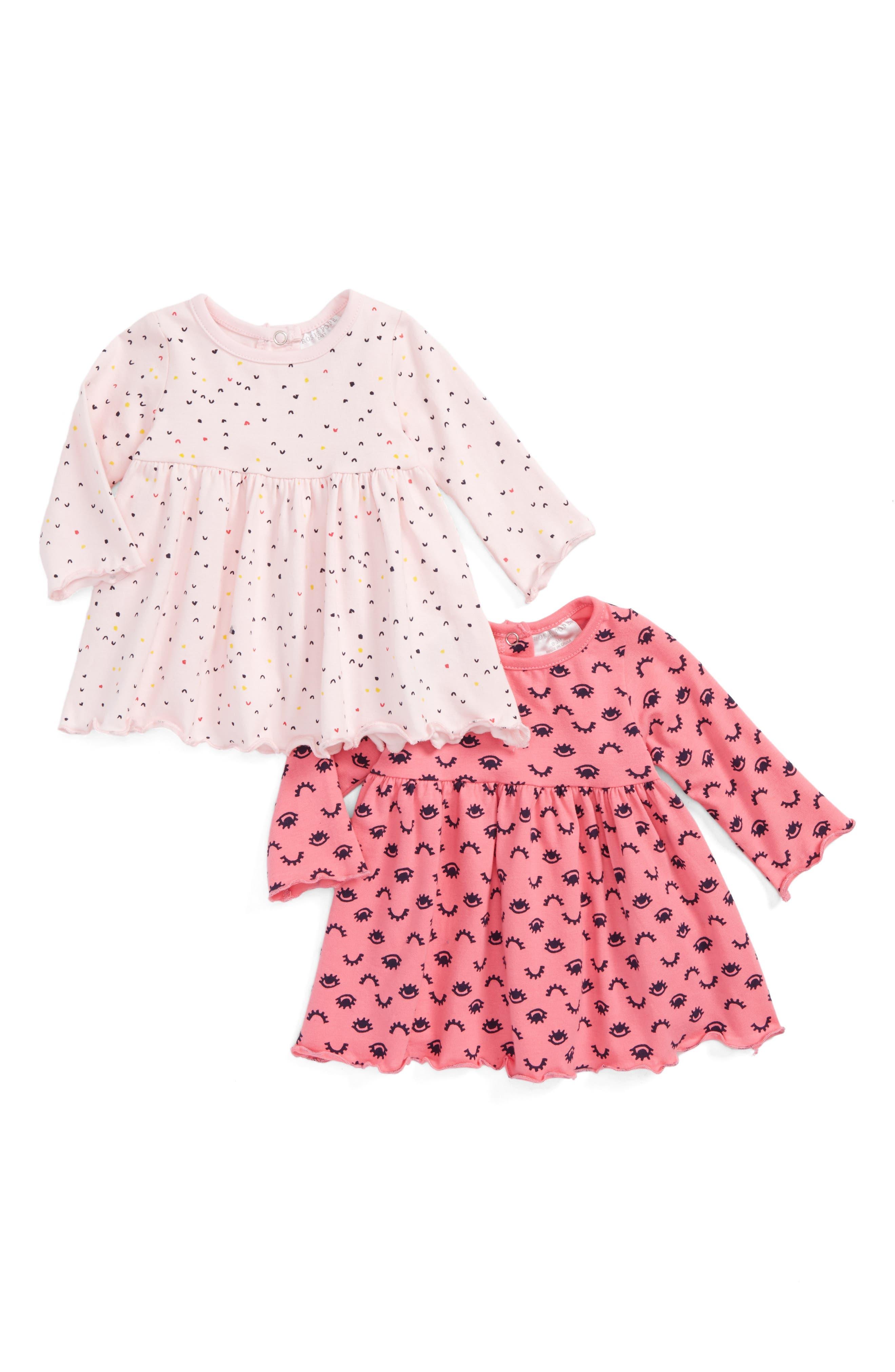 2-Pack Print Dresses,                         Main,                         color, Pink