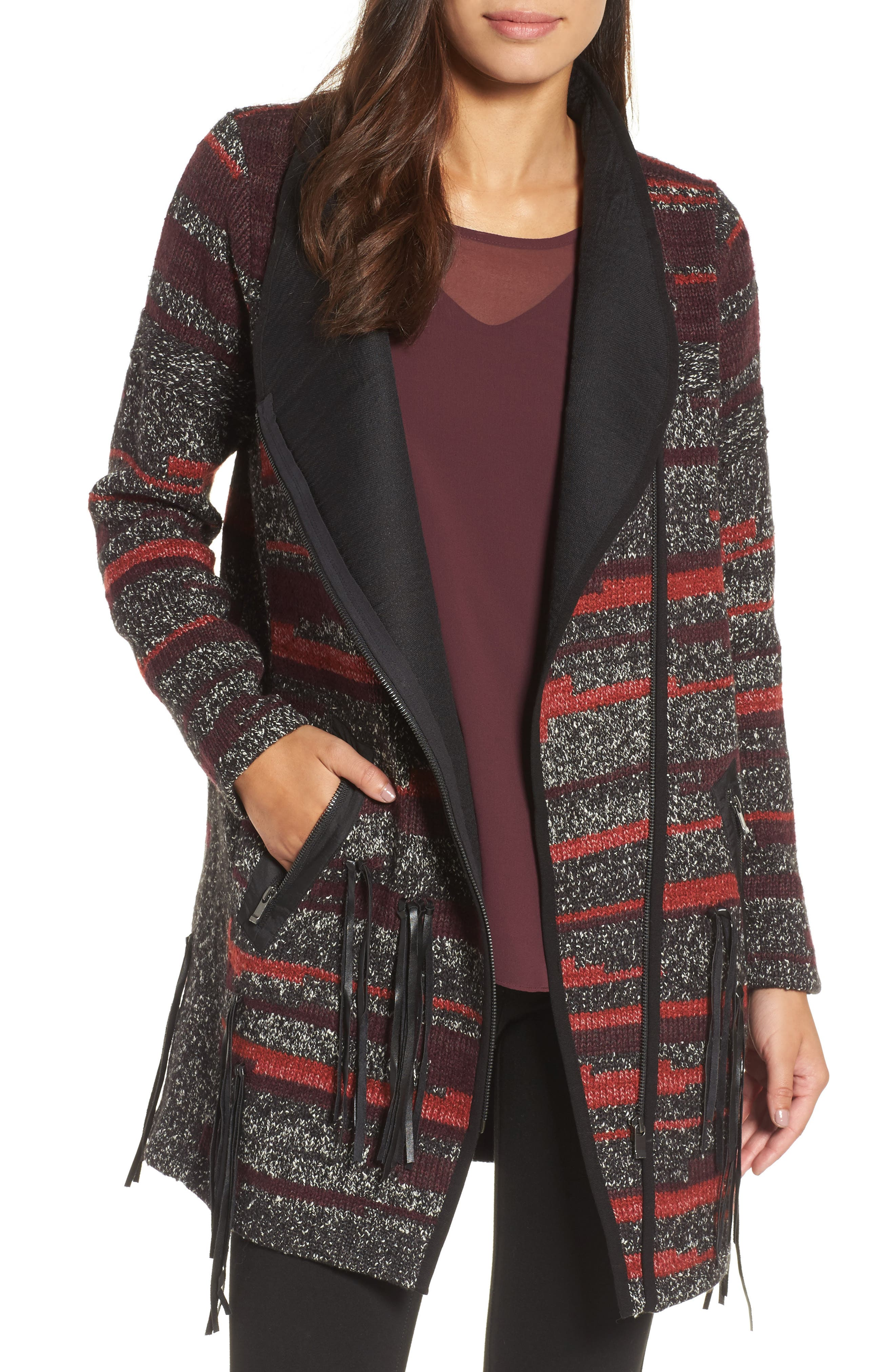 Nic + Zoe Visionary Faux Leather Trim Jacket (Regular & Petite)