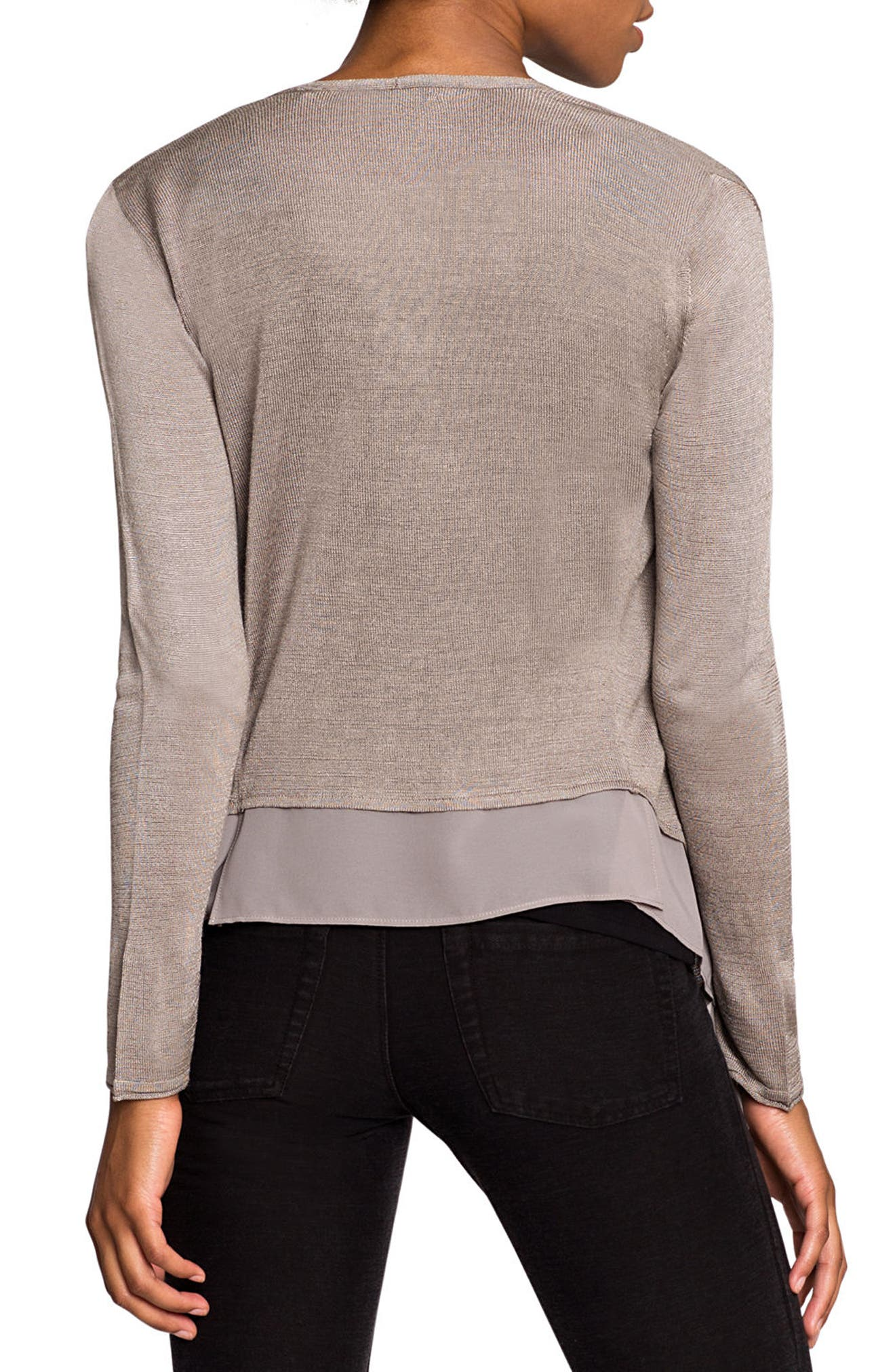 Alternate Image 3  - NIC+ZOE Paired Up Silk Blend Cardigan (Regular & Petite)