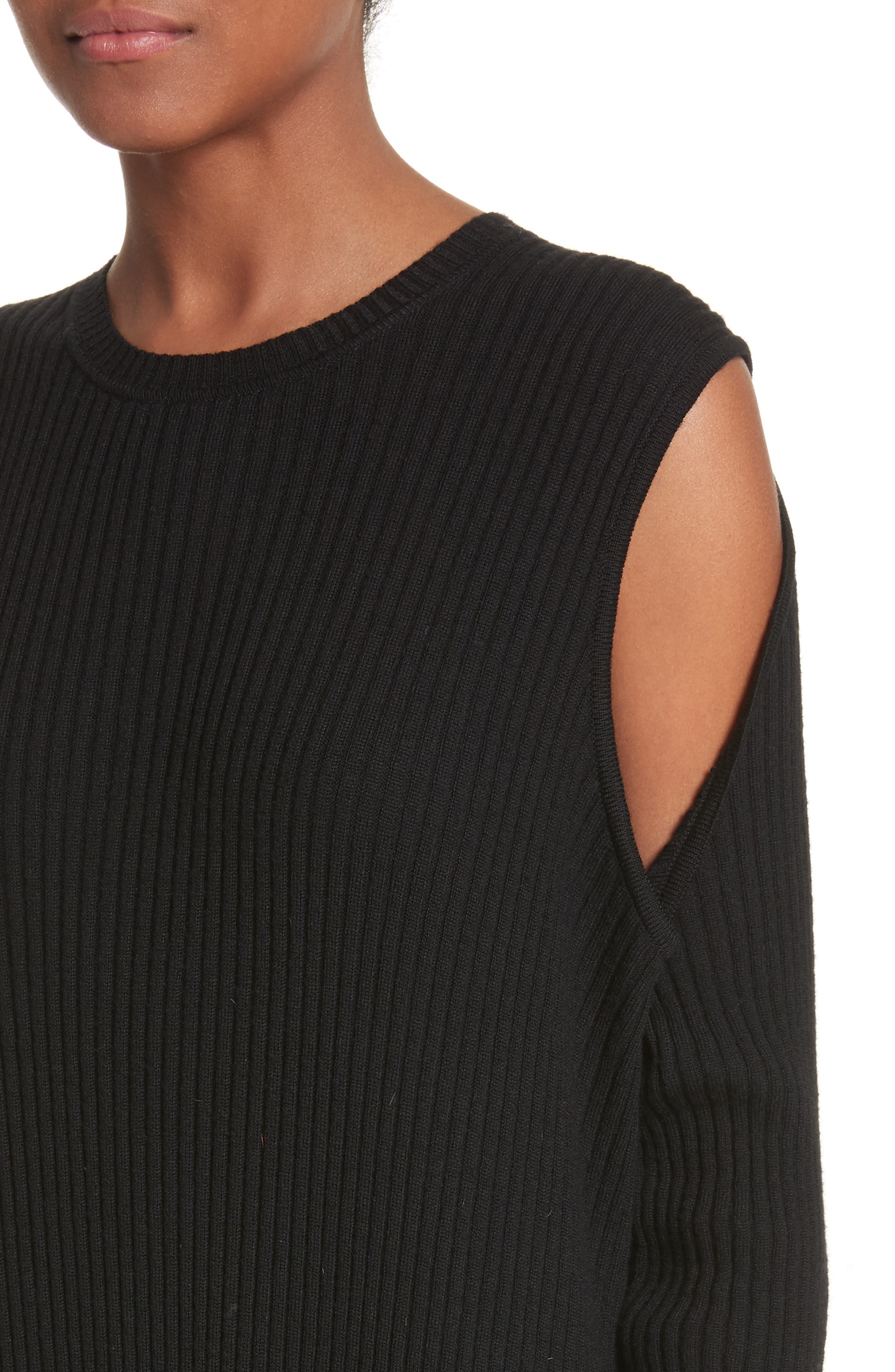 Alternate Image 4  - Marques'Almeida Ribbed Cold Shoulder Maxi Dress