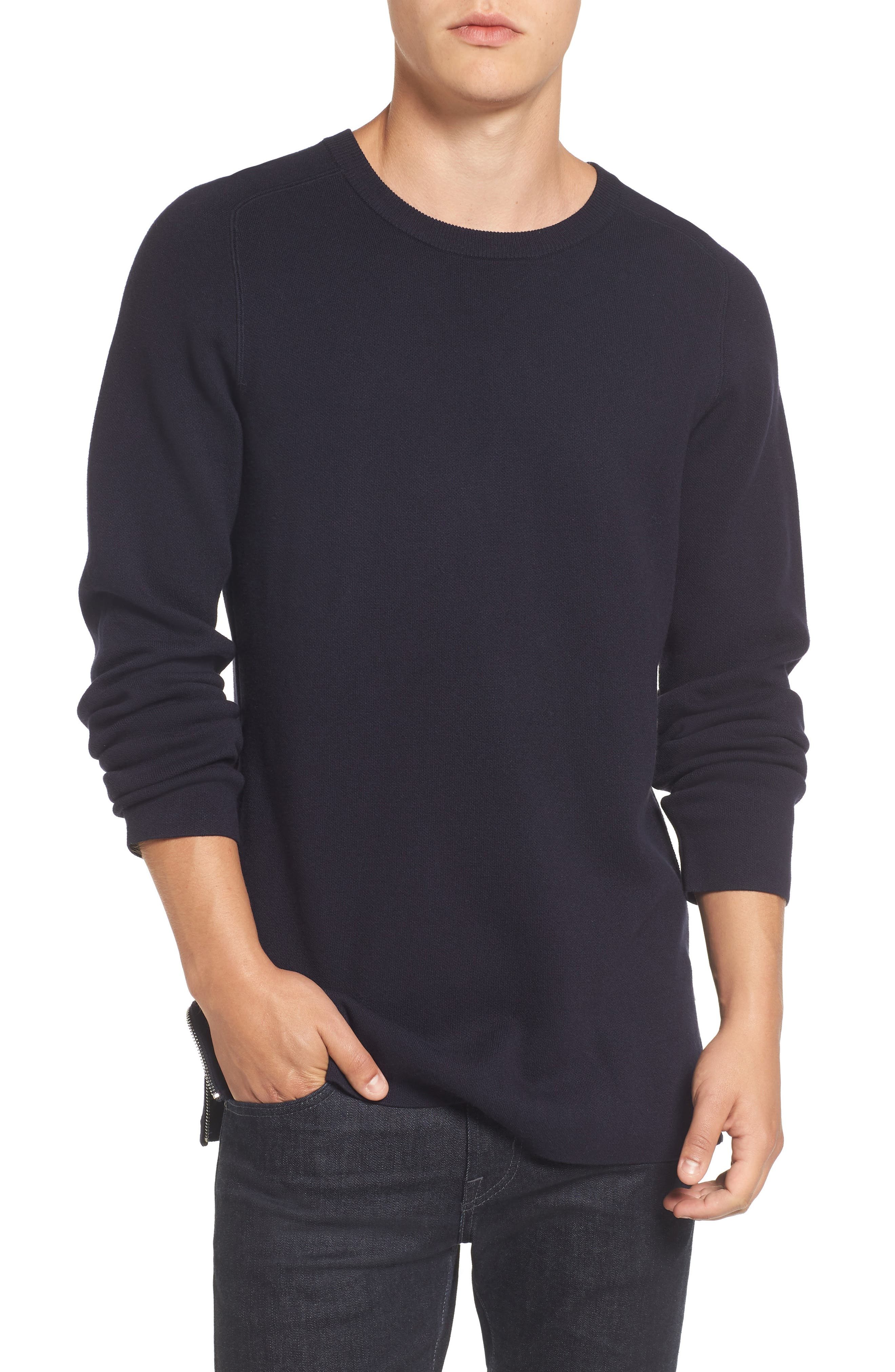 Lakra Side Zip Sweater,                         Main,                         color, Marine Blue