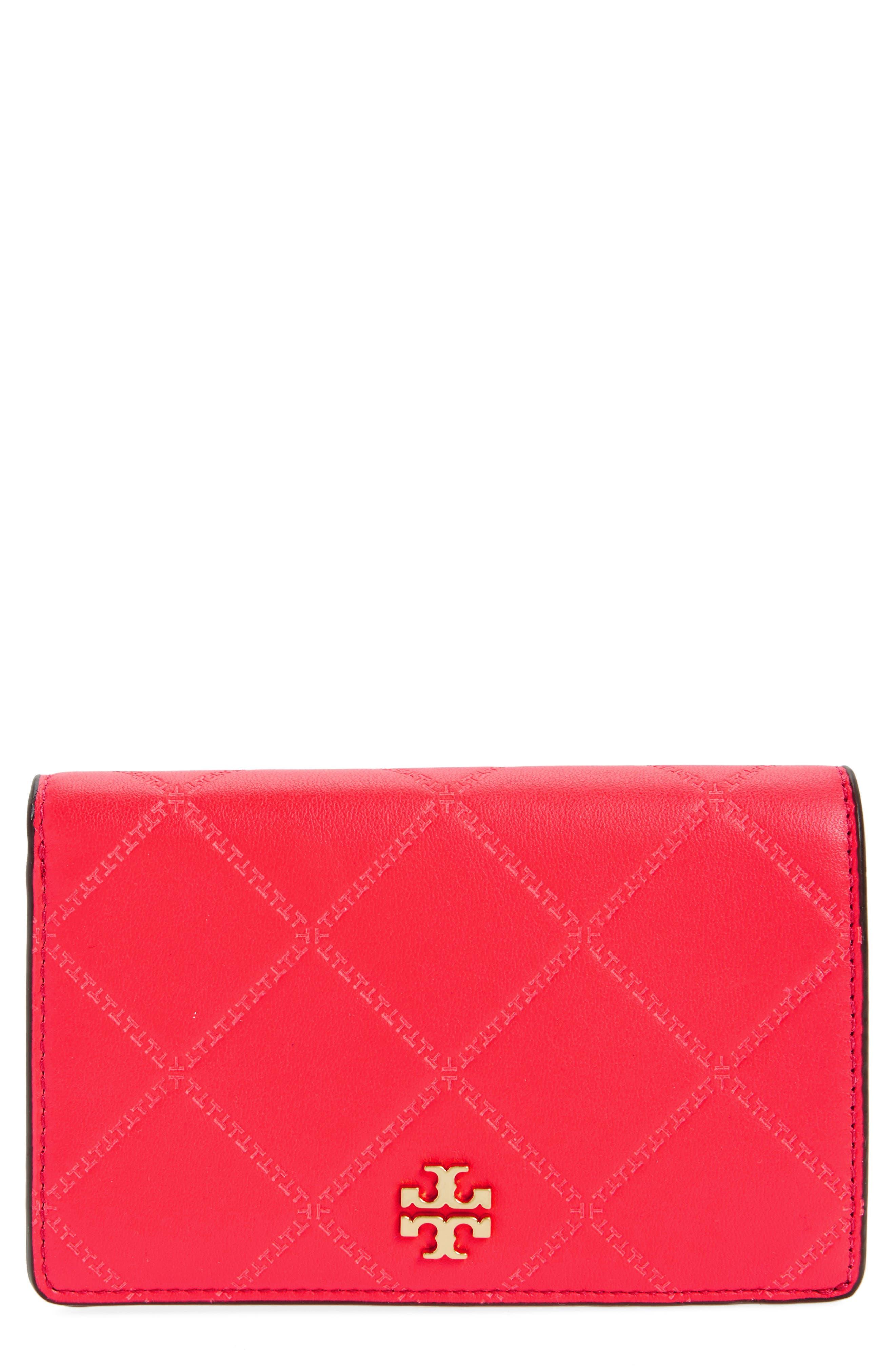 Tory Burch Medium Georgia Slim Leather Wallet