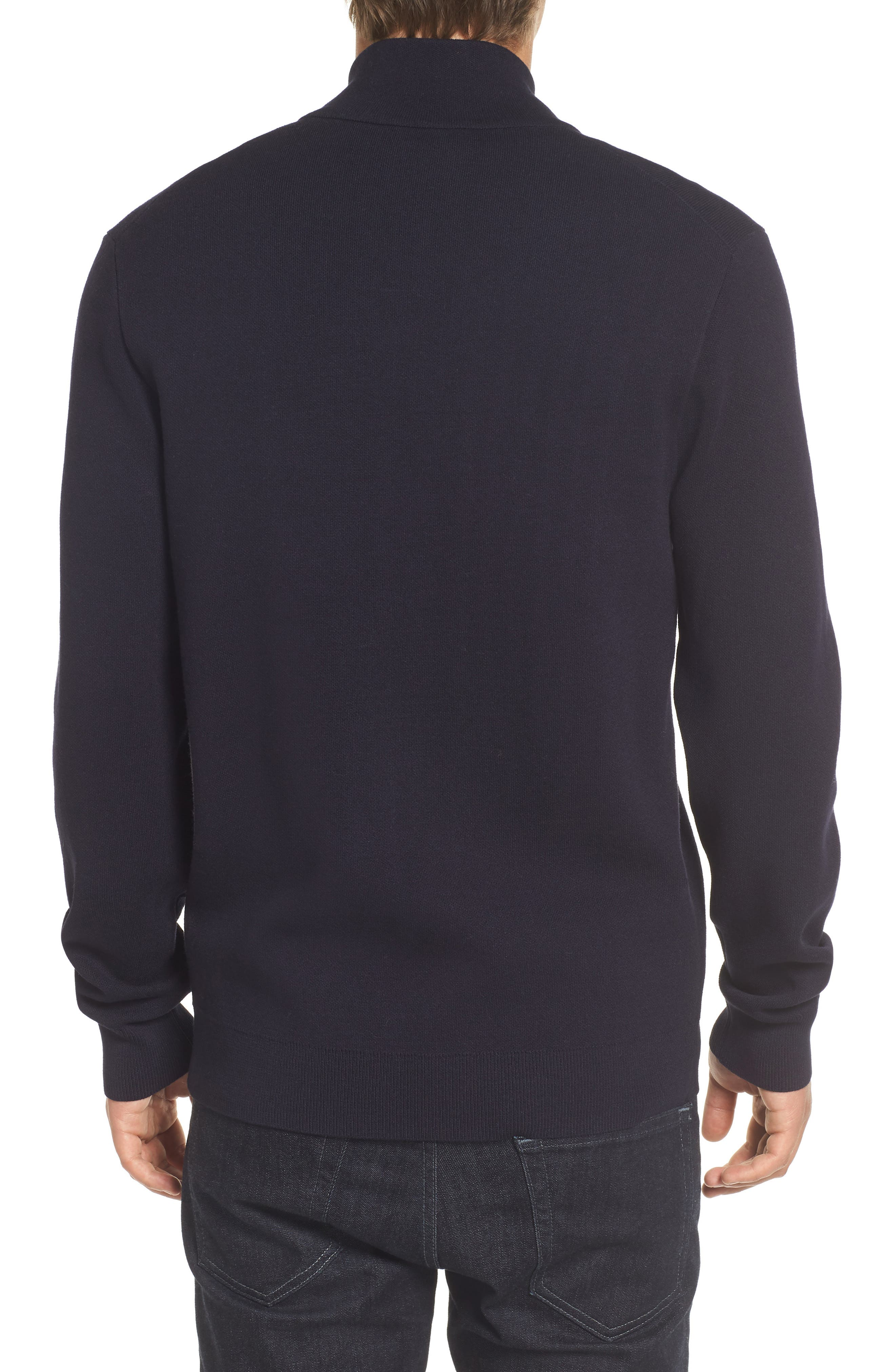Lakra Zip-Up Sweater,                             Alternate thumbnail 2, color,                             Marine Blue