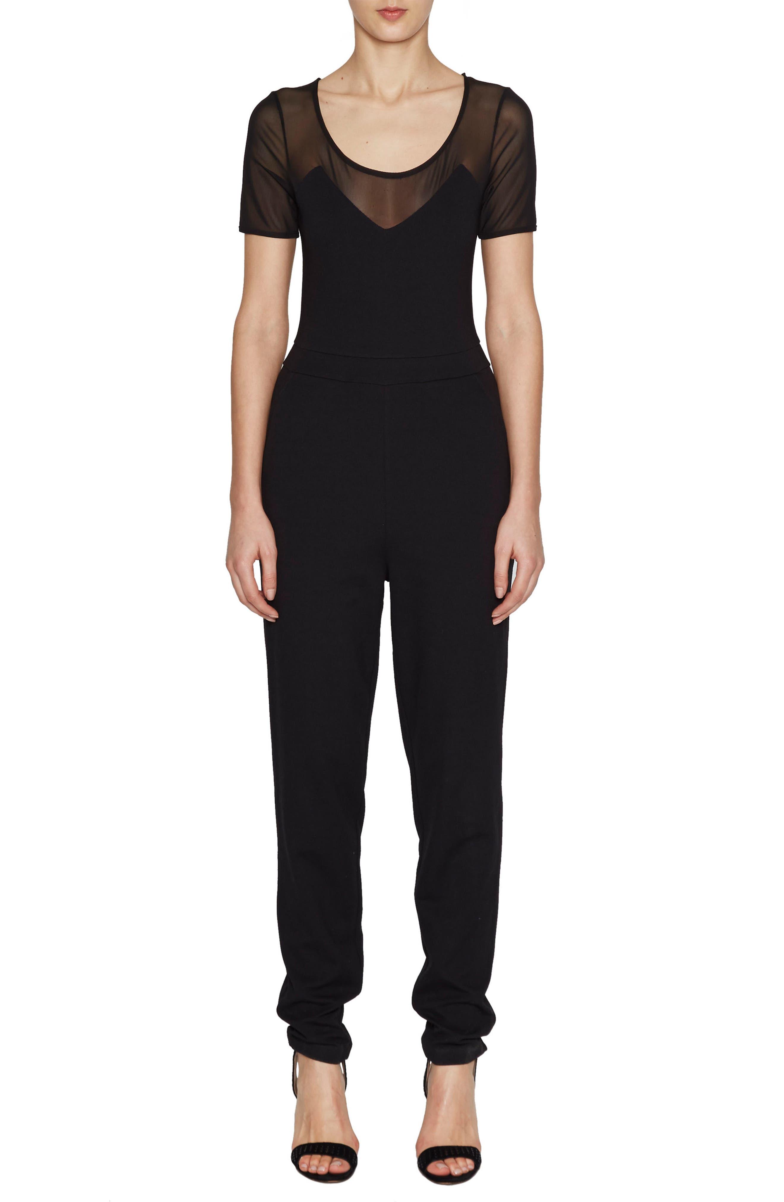 Frances Beau Jumpsuit,                         Main,                         color, Black