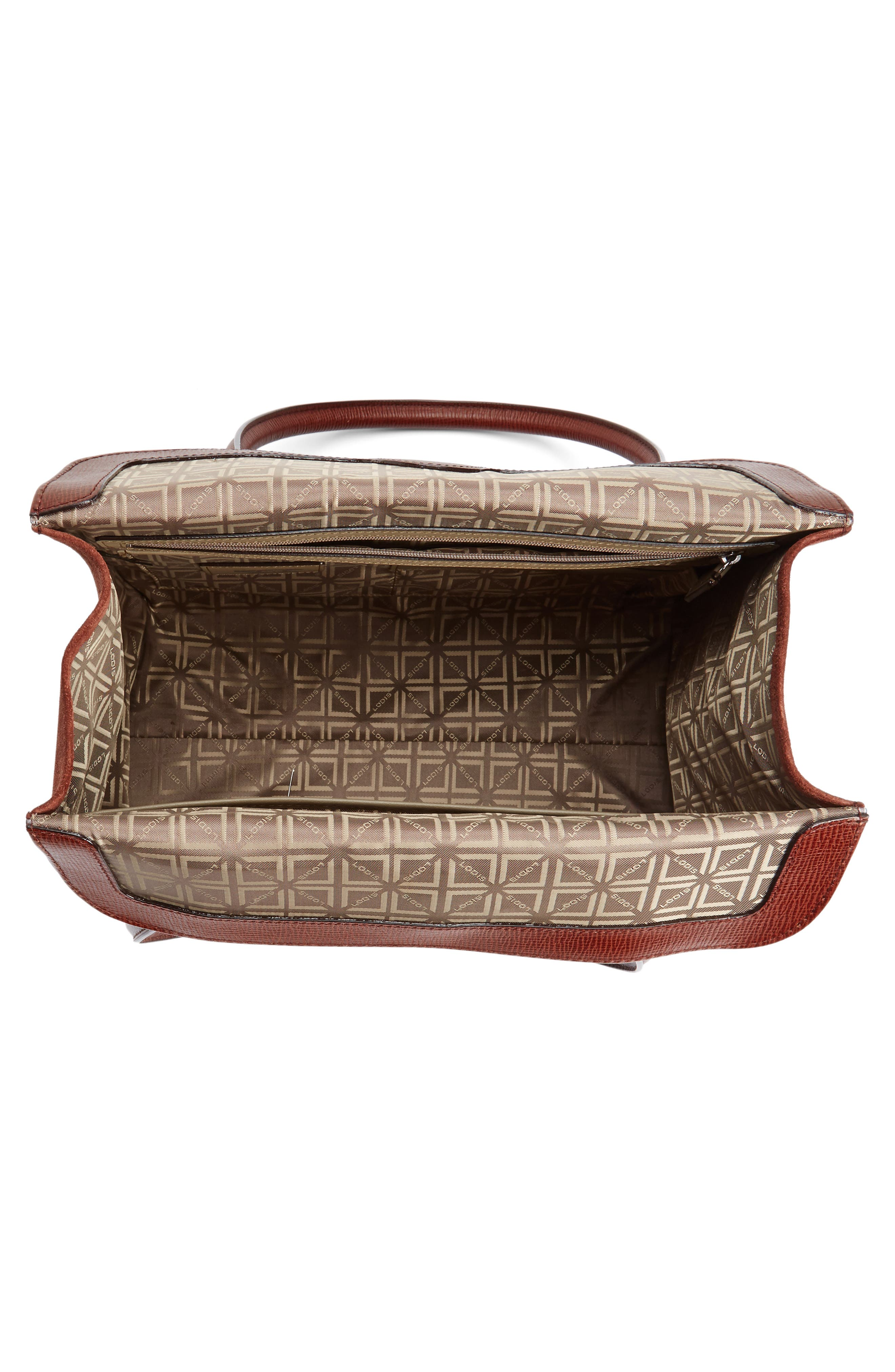 Alternate Image 4  - Lodis Business Chic Paula RFID-Protected Coated Leather & Suede Brief Shoulder Bag