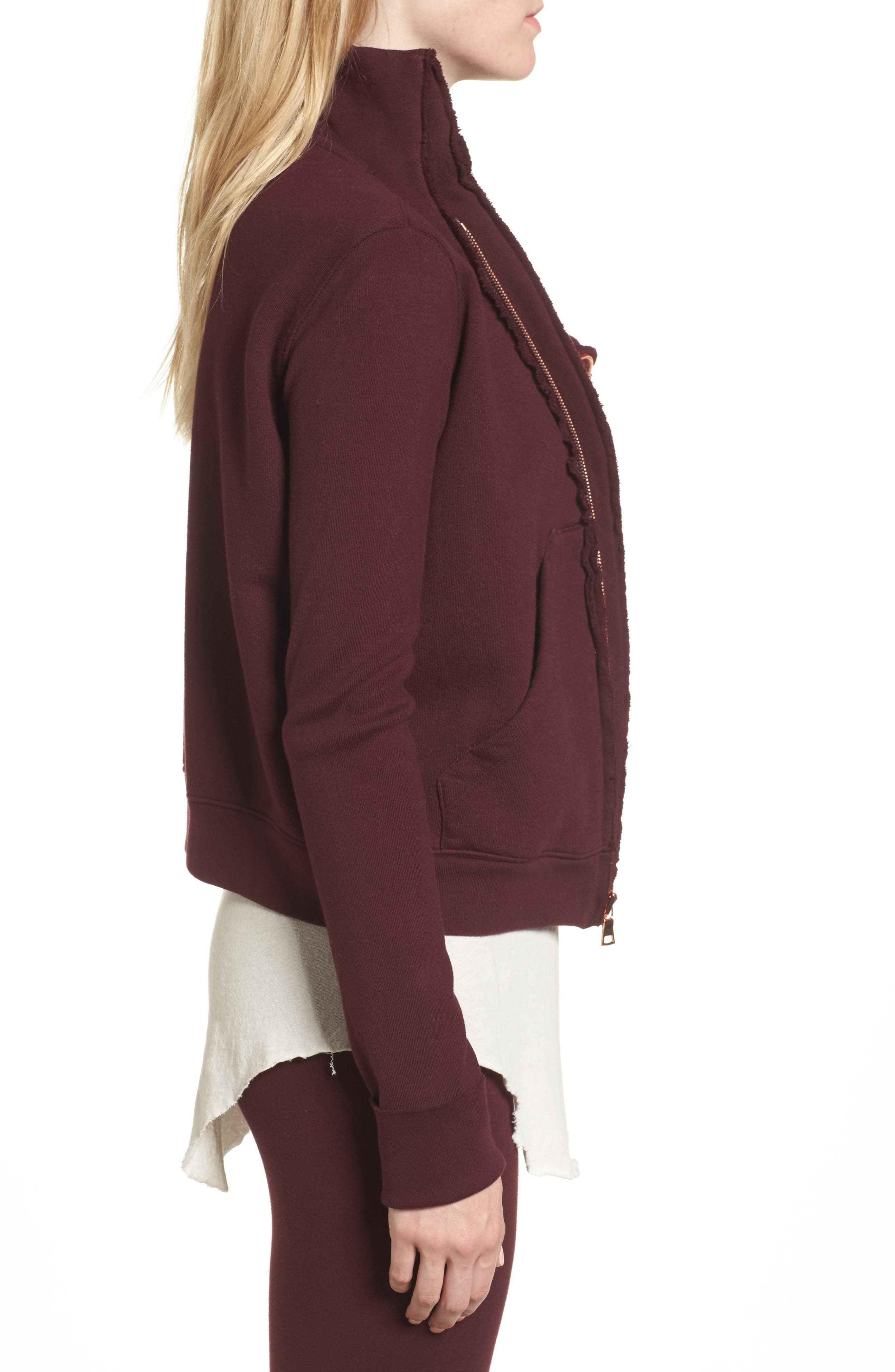 Zip Fleece Jacket,                             Alternate thumbnail 3, color,                             Vamp