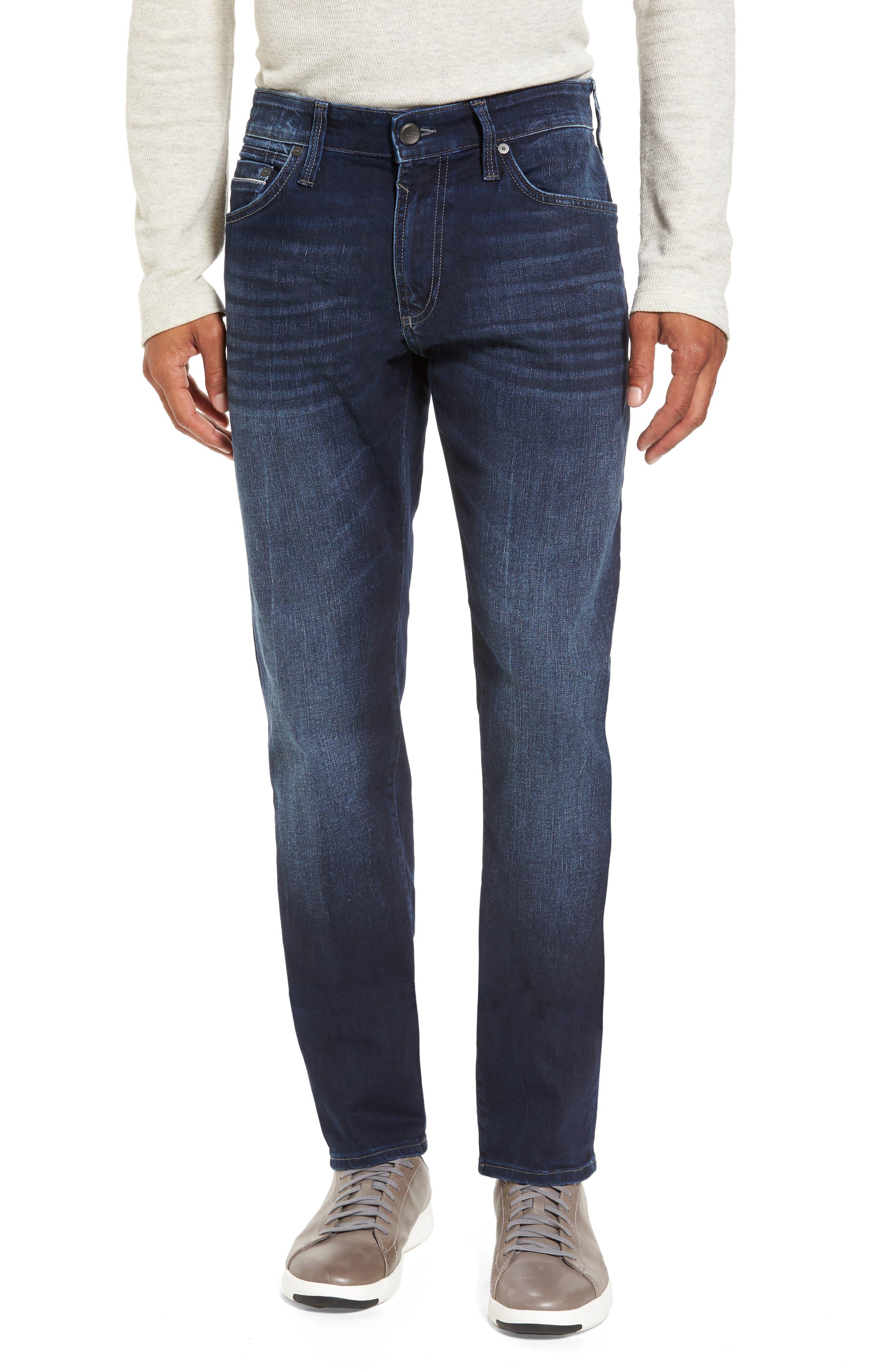 Main Image - Mavi Jeans Marcus Slim Straight Leg Jeans (Deep I-Core White Edge)