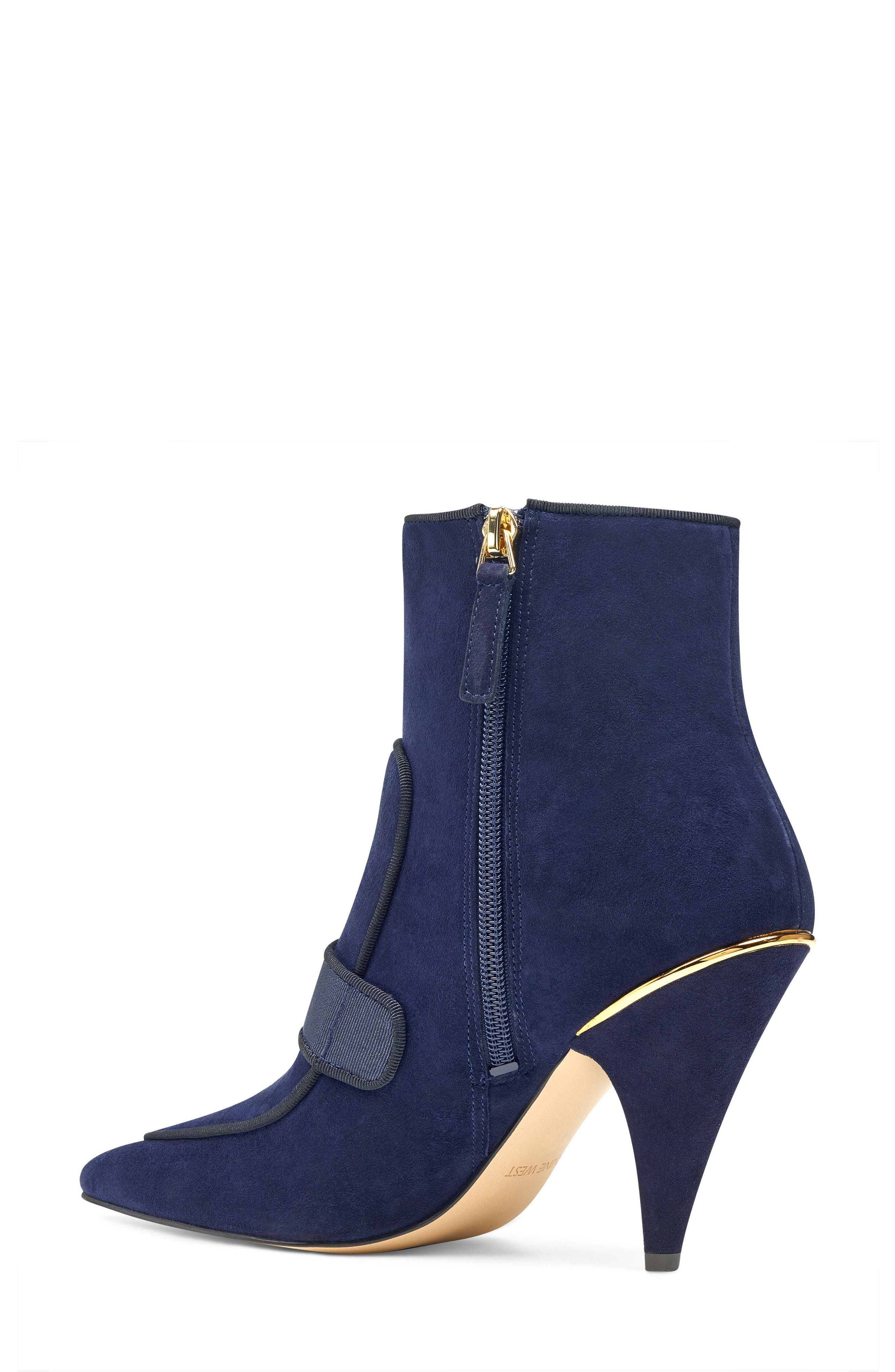 Westham Pointy Toe Bootie,                             Alternate thumbnail 2, color,                             Navy/ Black Suede