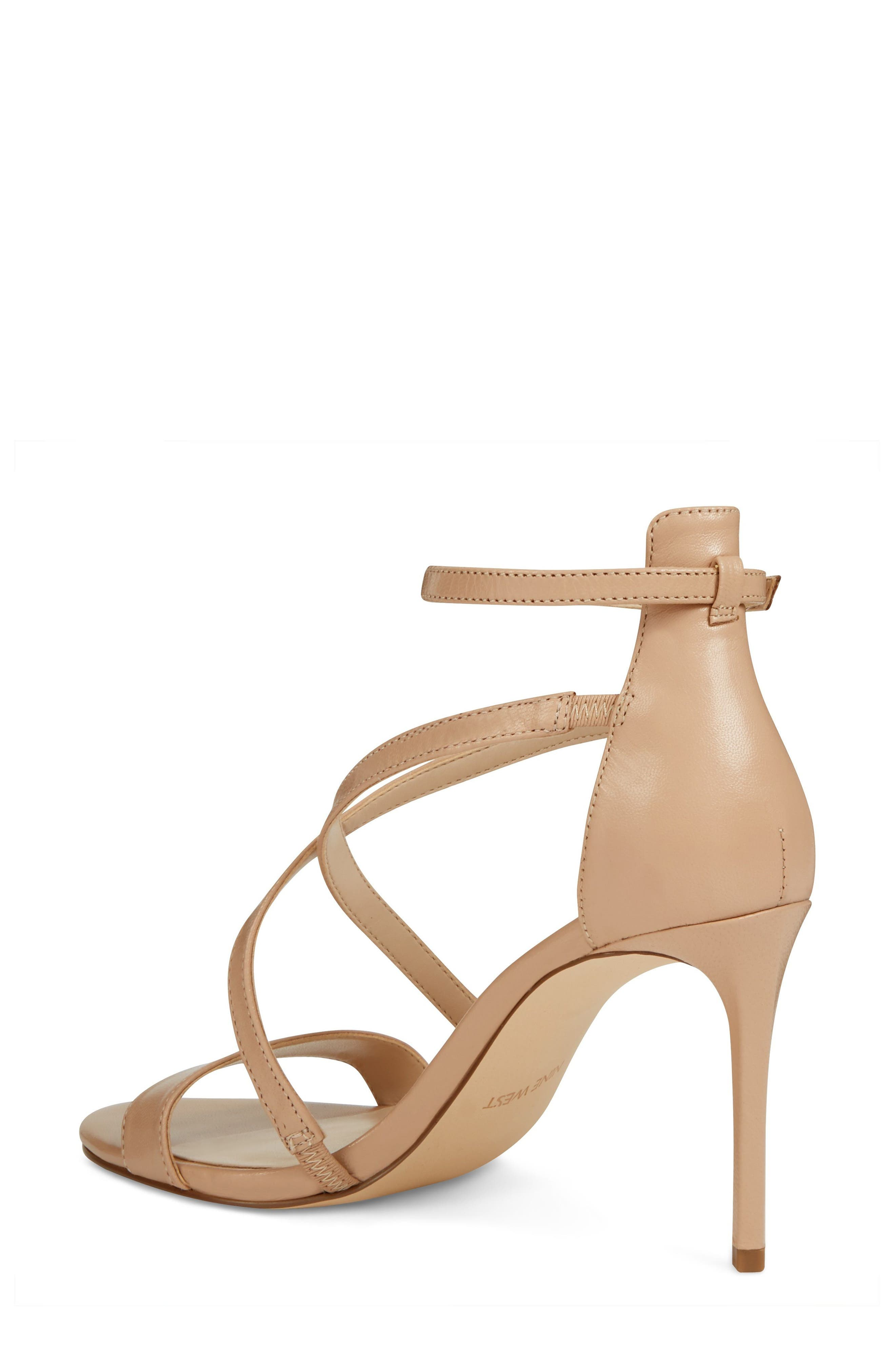 Retail Therapy Strappy Sandal,                             Alternate thumbnail 2, color,                             Natural Leather