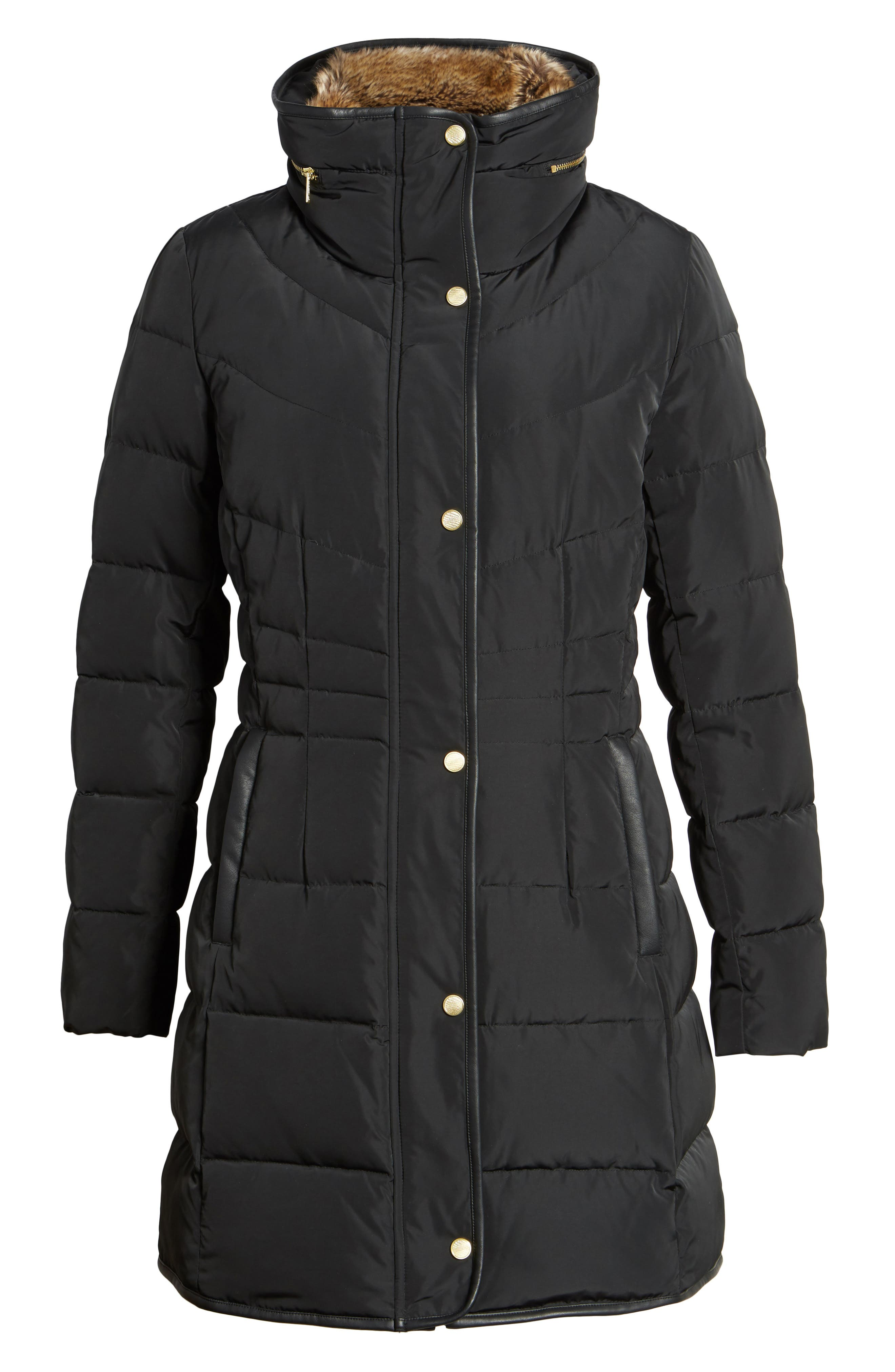 Alternate Image 6  - Cole Haan Quilted Down & Feather Fill Jacket with Faux Fur Trim