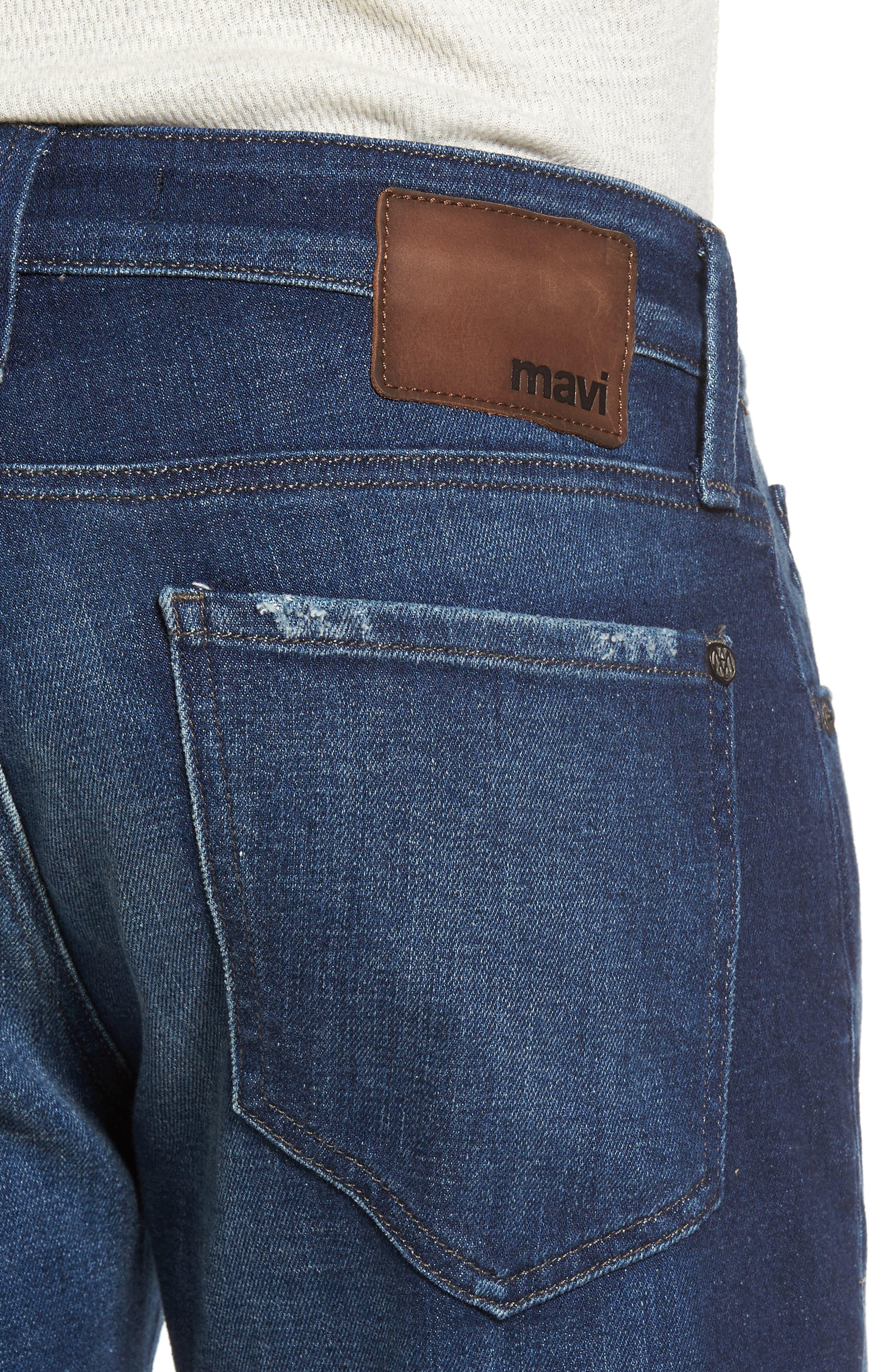 Alternate Image 4  - Mavi Jeans Jake Easy Slim Fit Jeans (Dark Brooklyn)