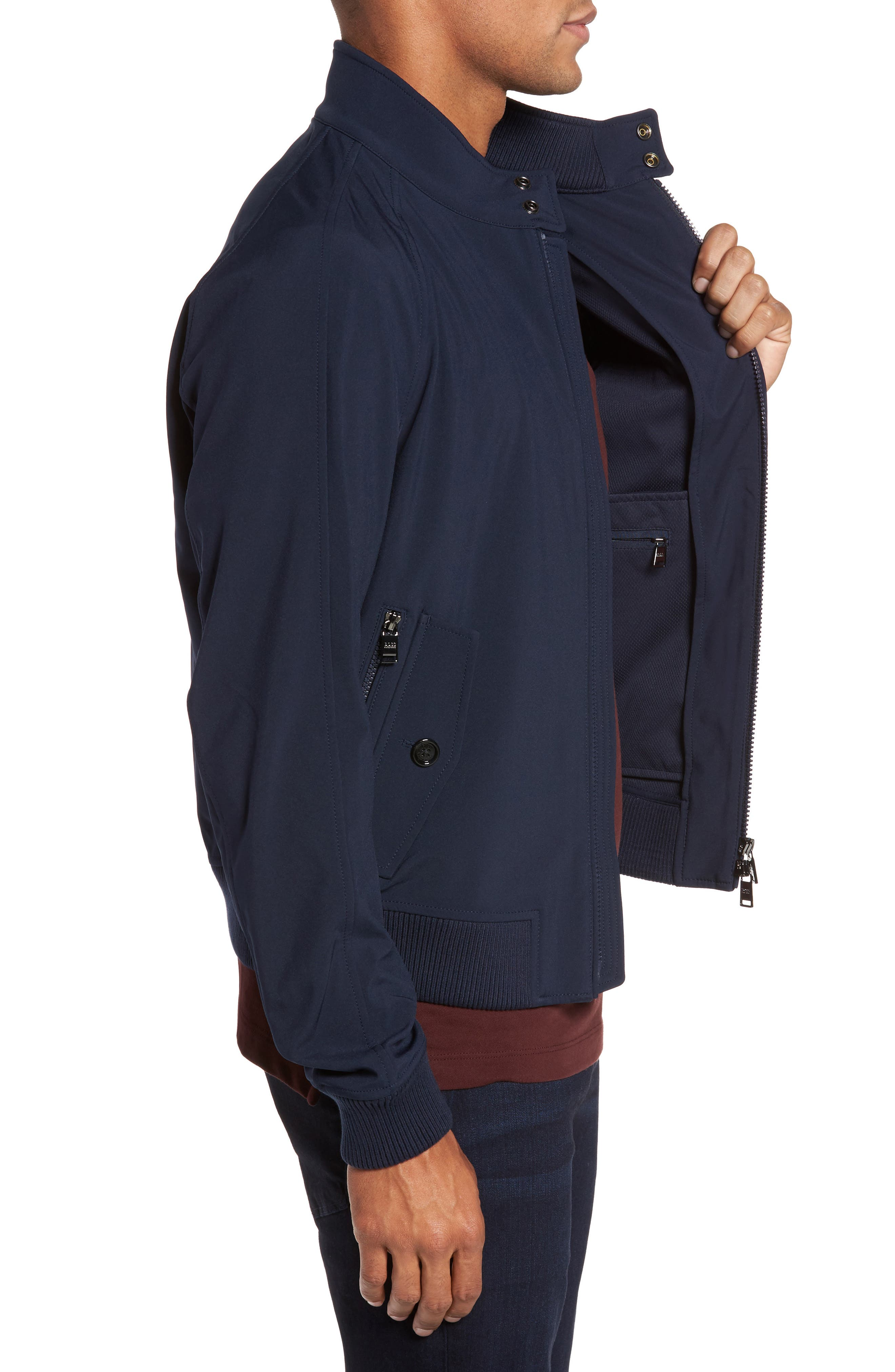 Corva Technical Jacket,                             Alternate thumbnail 3, color,                             Navy