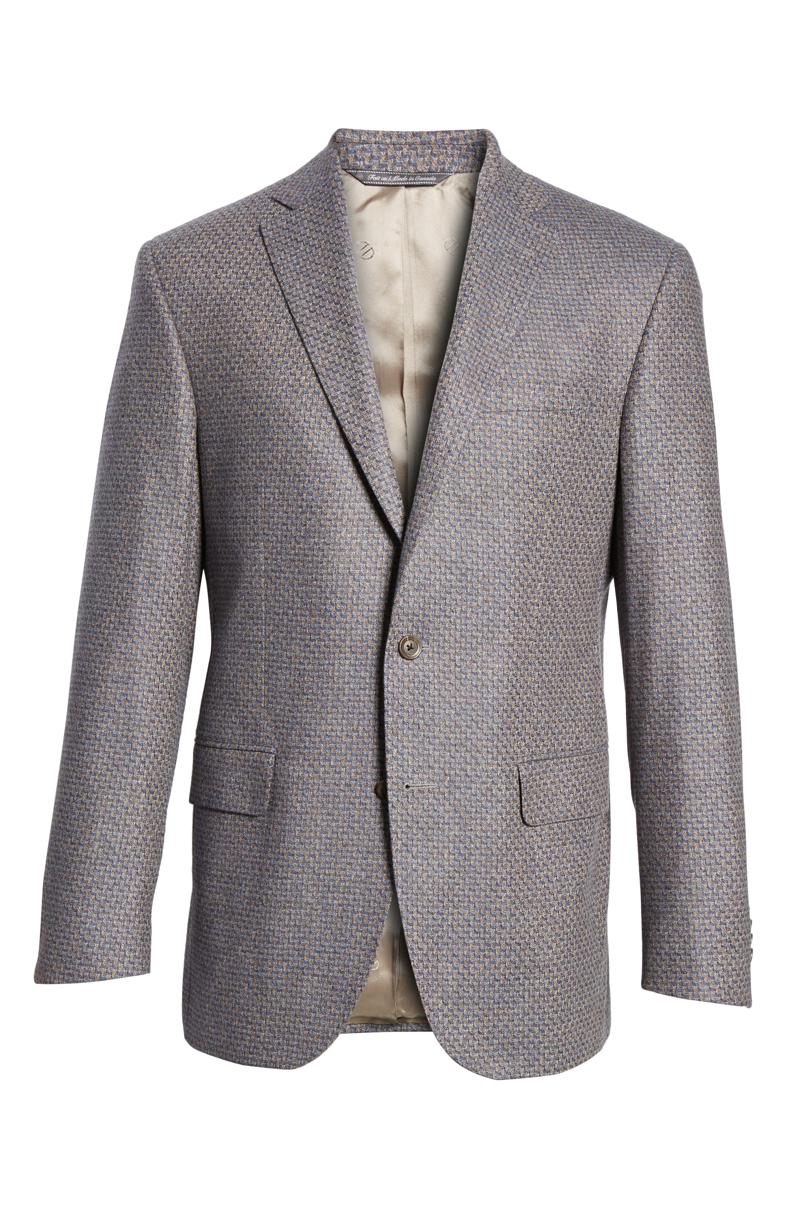 Connor Classic Fit Wool Sport Coat,                             Alternate thumbnail 6, color,                             Tan