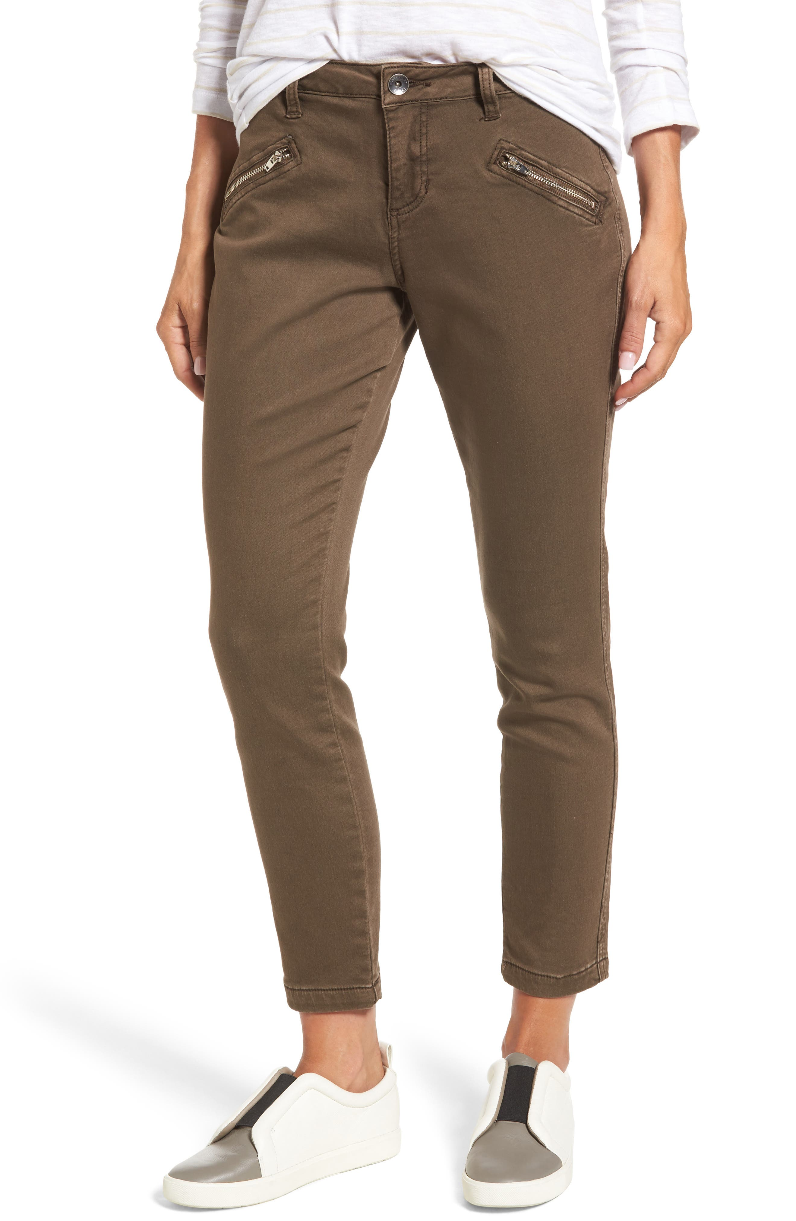 Ryan Knit Skinny Jeans,                             Main thumbnail 1, color,                             Saddle