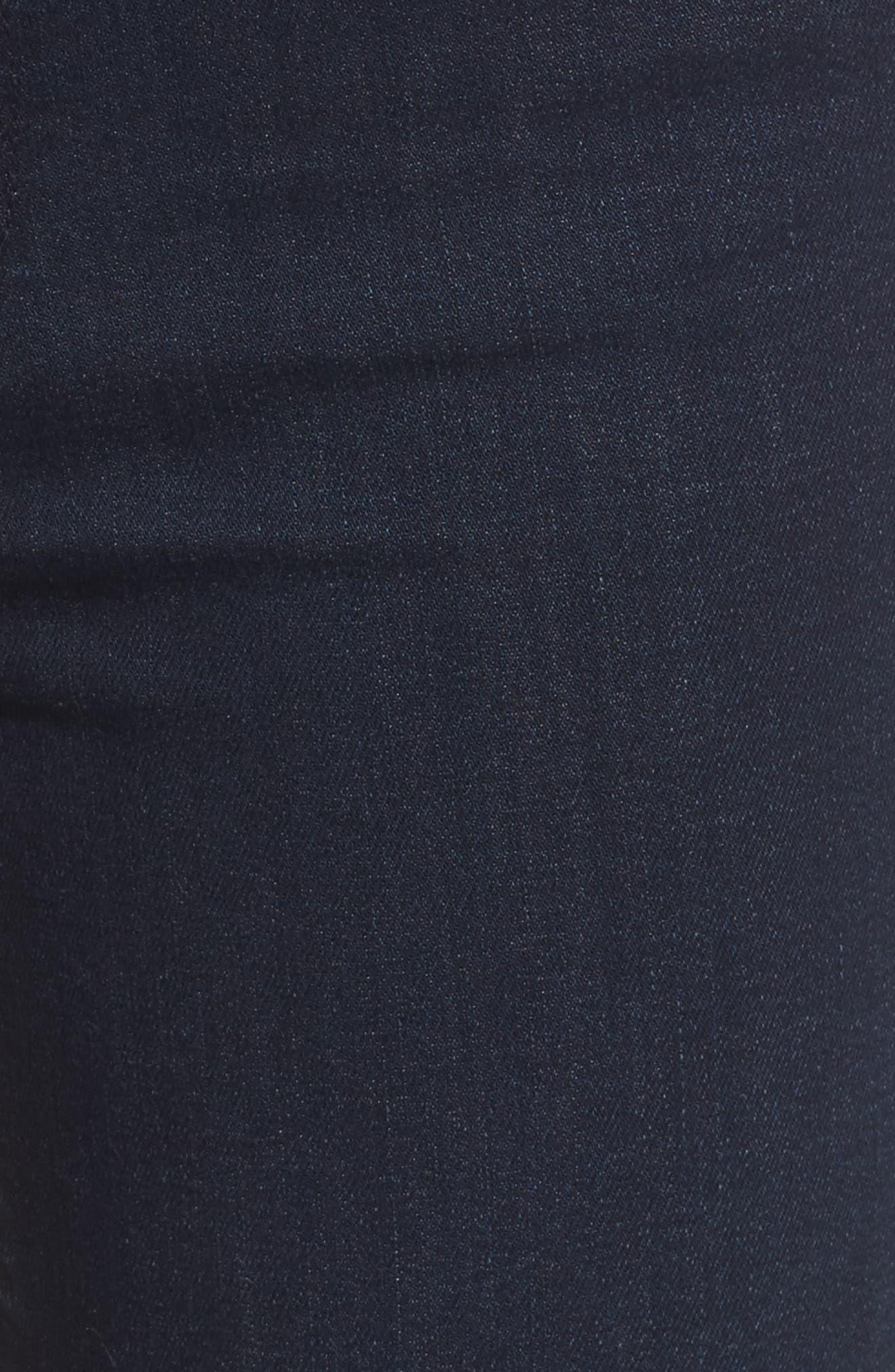 Flora Ruffle Hem Crop Straight Leg Jeans,                             Alternate thumbnail 5, color,                             Merritt